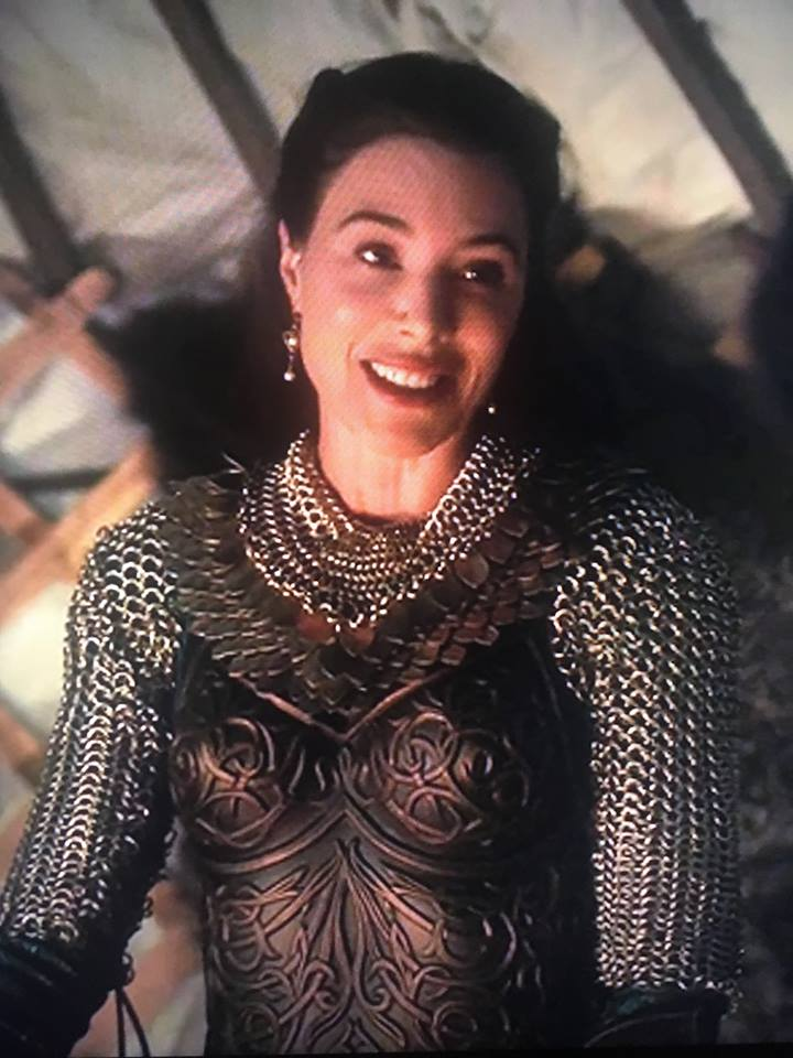 "Delilah the ""White Witch"" wears an It Is Known ""D'Arc"" scalemaille collar on NBC's ""Midnight, Texas"","" S2 E8."