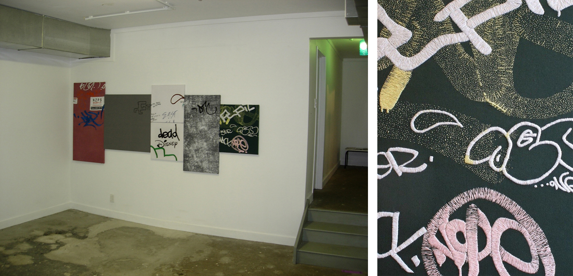 From Concrete to Textile,  2006. Blue Oyster Art Project Space, Dunedin. Image courtesy of the artist.
