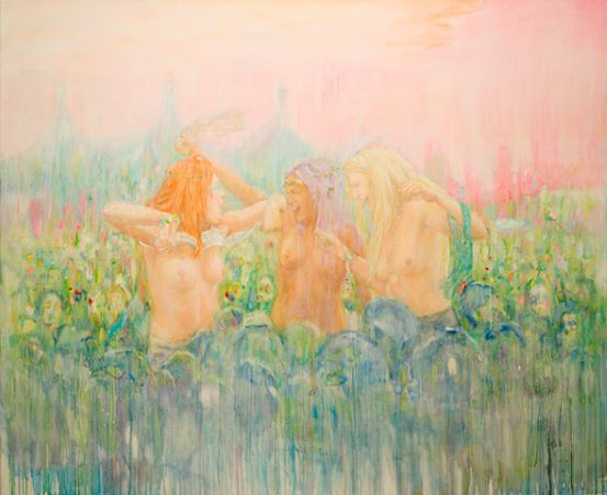 Séraphine Pick,  A Million Likes , 2013. Oil on Linen. Image courtesy of the artist.