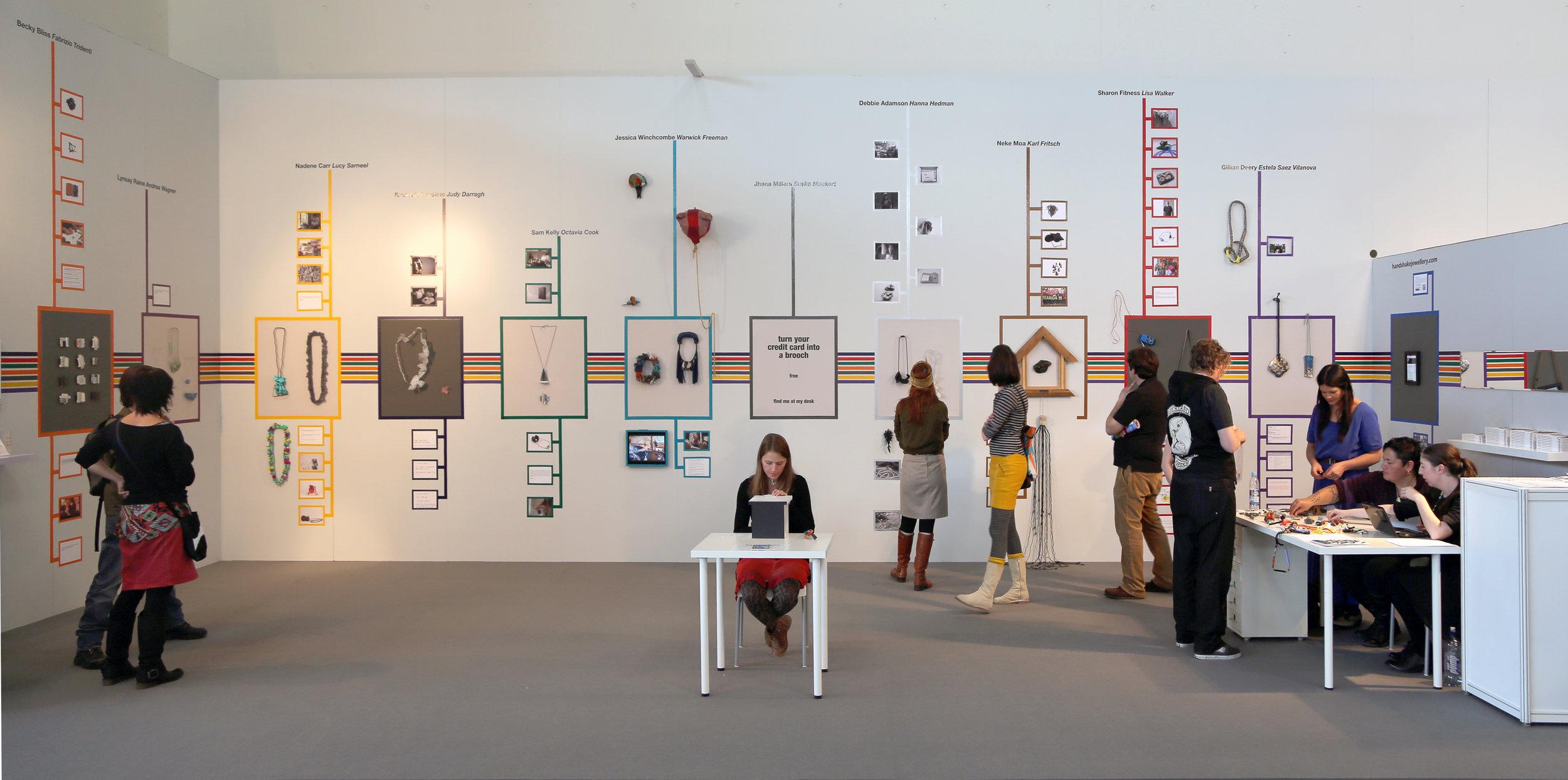 Handshake 1 presentation at the FRAME galleries, Internationale Handwerkmesse, Munich, 2013. Image courtesy of Peter Deckers.