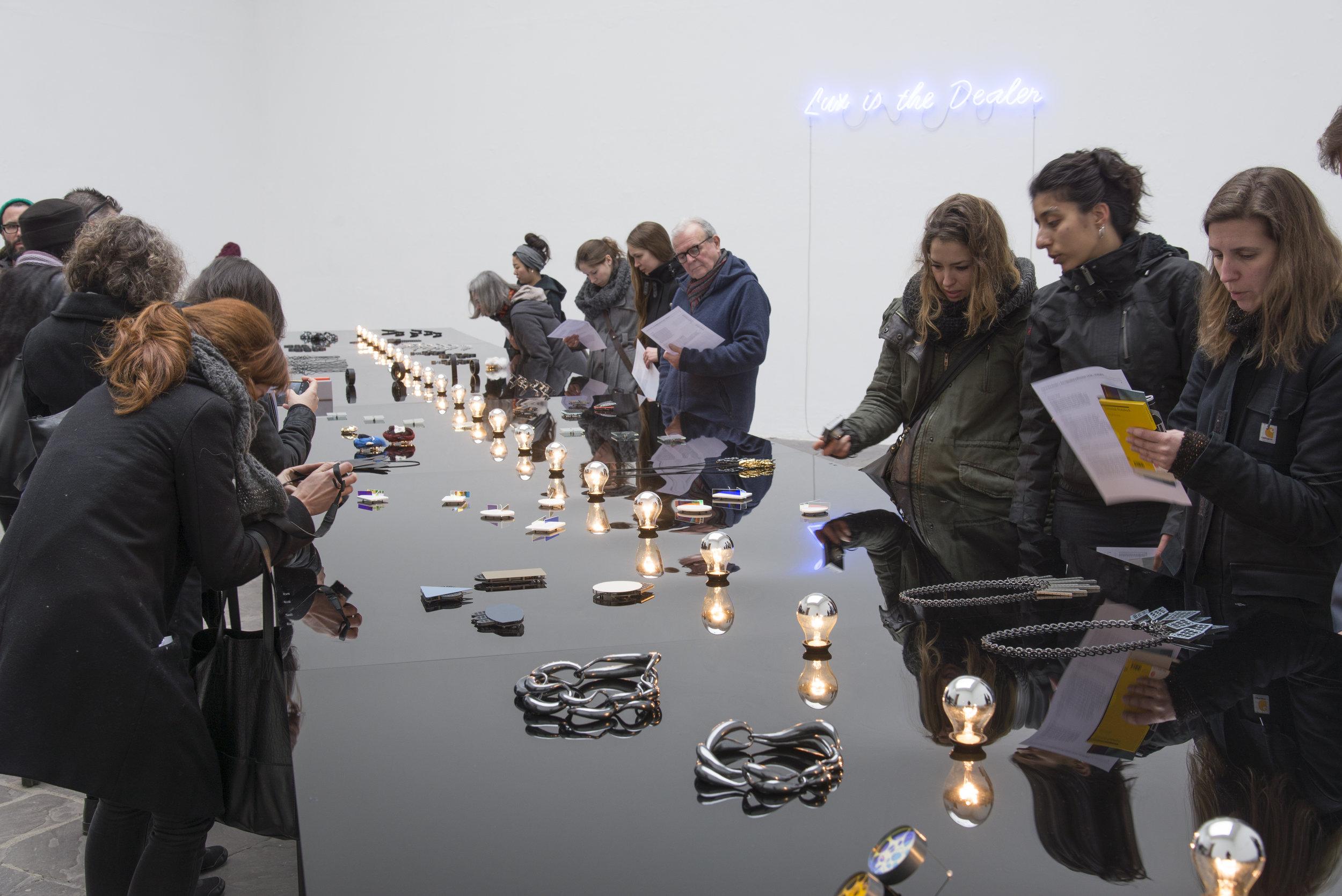 Lux is the Dealer,  installation view, Kunstpavillion, Munich Jewellery Week, 2015. Photo by Sian van Dyk