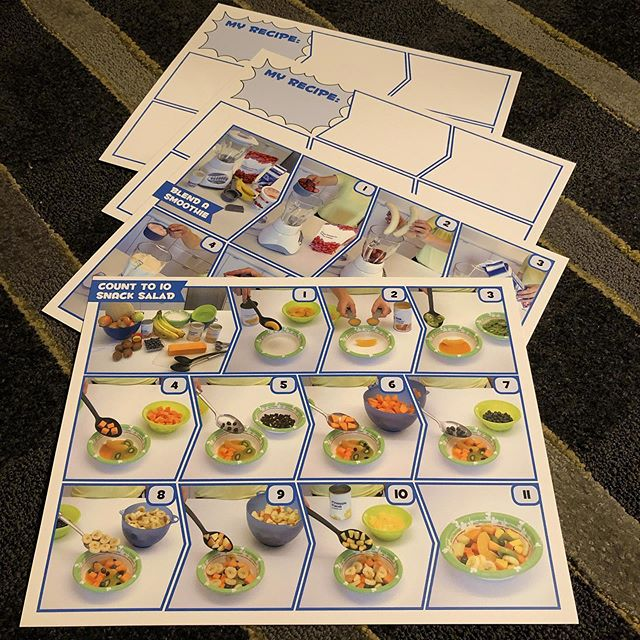 """I found these in storage & am excited to try visual recipes & recipe development with my 4.5 yr old. . It seems like a great way to get kids excited about food & continue talking about food, as I do """"know about food"""" as she says. She also made me proud by telling someone I was a dietitian 😊😊 (she likely hasn't heard of a nutritionist yet, but I'll take it 🥳). . Are you teaching any young ones about food this summer? #summerholidays #dietitian #mom #kidsinthekitchen #cookingwithkids #thenextgeneration #foodliteracy #startthemyoung"""