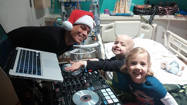 This #TBT goes out to our @ampurroom champion and @texaschildrens hero @mohawkstevedttw! His beside turntables turn rooms into a party. This is what hope looks like. Thank you Steve for your continuous passion and enthusiasm!