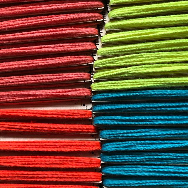 #hellolooms in color! Kits with yarn heading to @surface_design biennial conference in St. Louis tomorrow. See you there! #weaving #littleloom #miniloom #vav #stlouis #surfacedesignassociation #weavingonthego #helloloomkits #yarn #weavingincolor