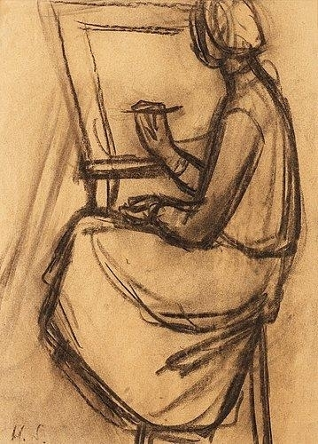 Helene-Schjerfbeck-Woman-at-the-easel-e1506377928162.jpeg