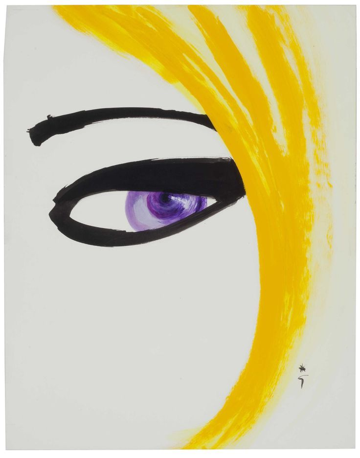 Rene Gruau 'L' Oiel de Catherine Deneuve' 1980.jpg