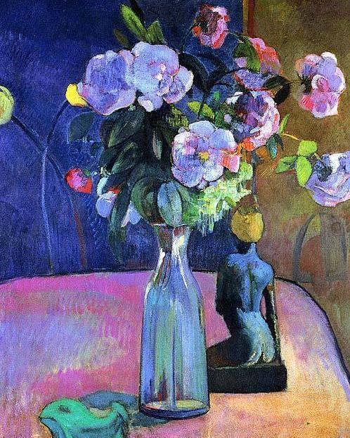 %22Vase of flowers with statuette,%22 1890 Paul Gauguin.jpg