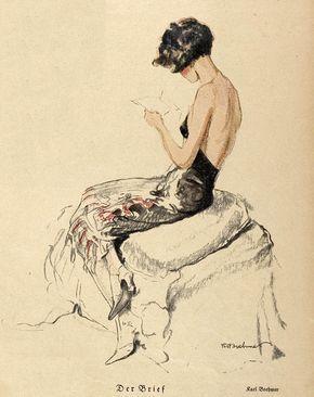 The Letter, Karl Poehmer, Jugend magazine, 1925.jpg