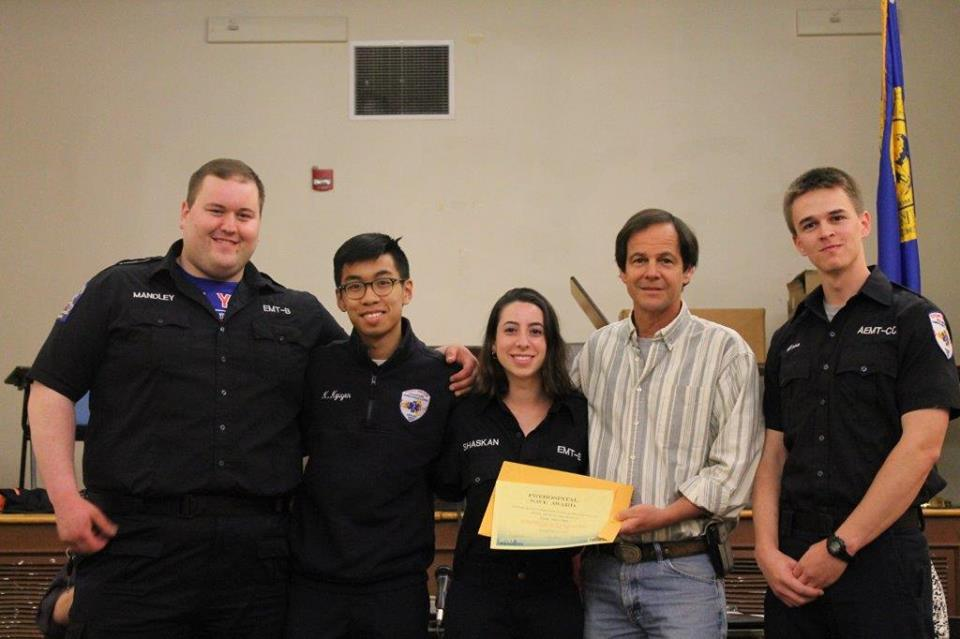 Suffolk County EMS honors SBVAC crew who saved a patient in cardiac arrest.