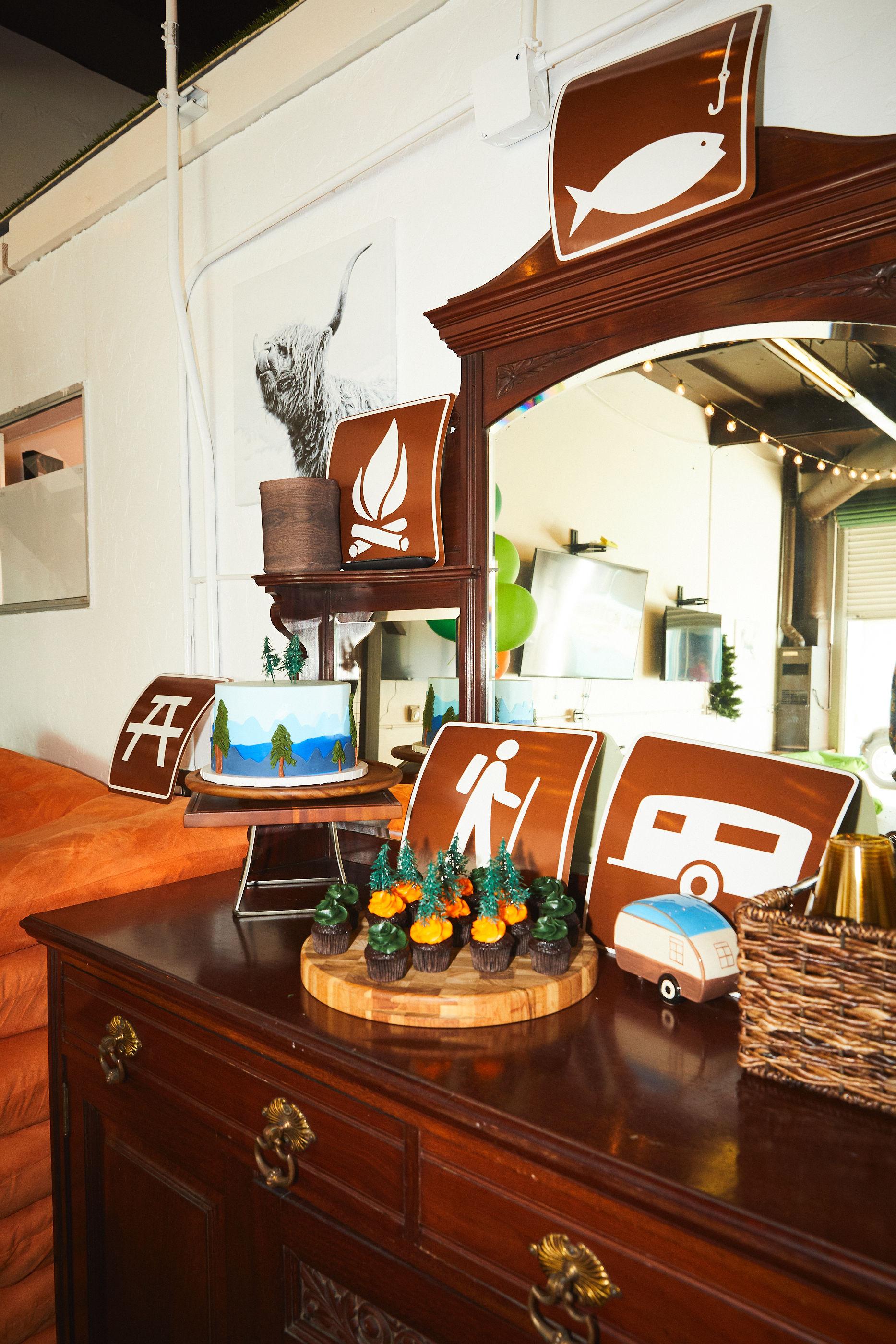 Dessert display at The Papa Saloon