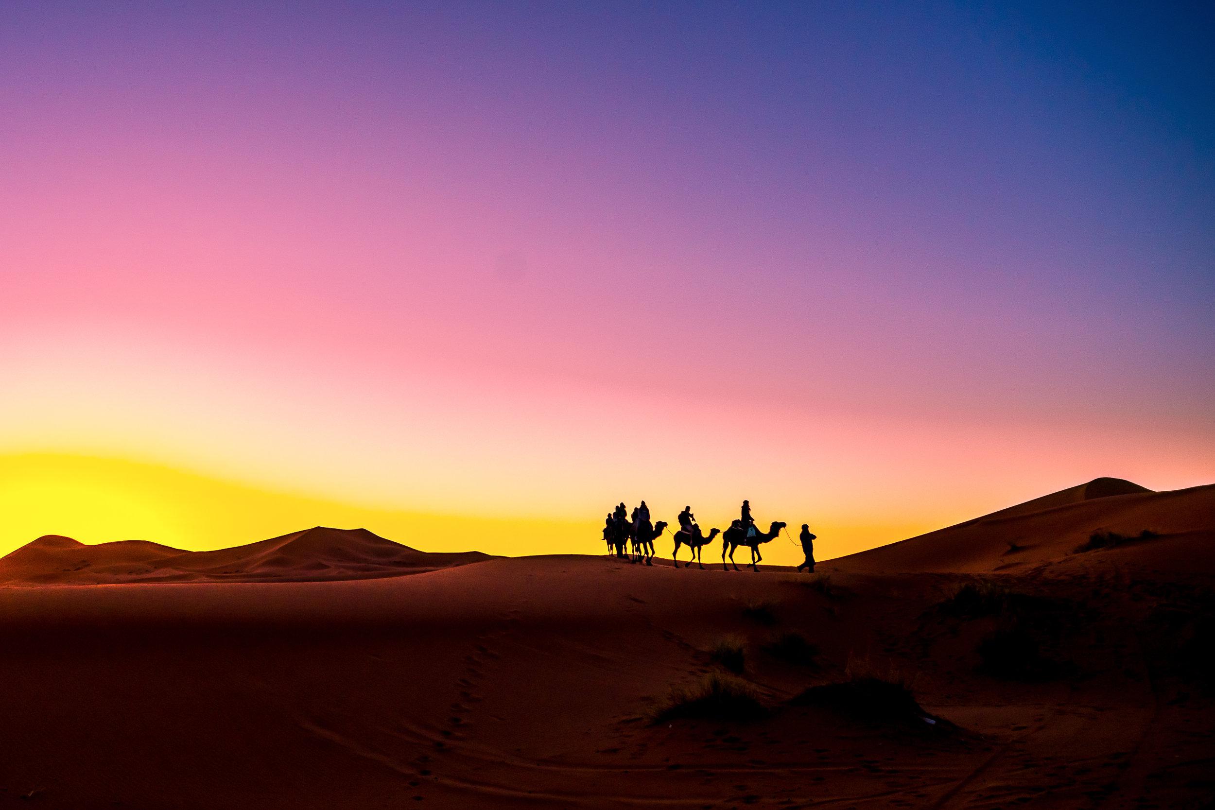 Sunrise in the Sahara - Morocco