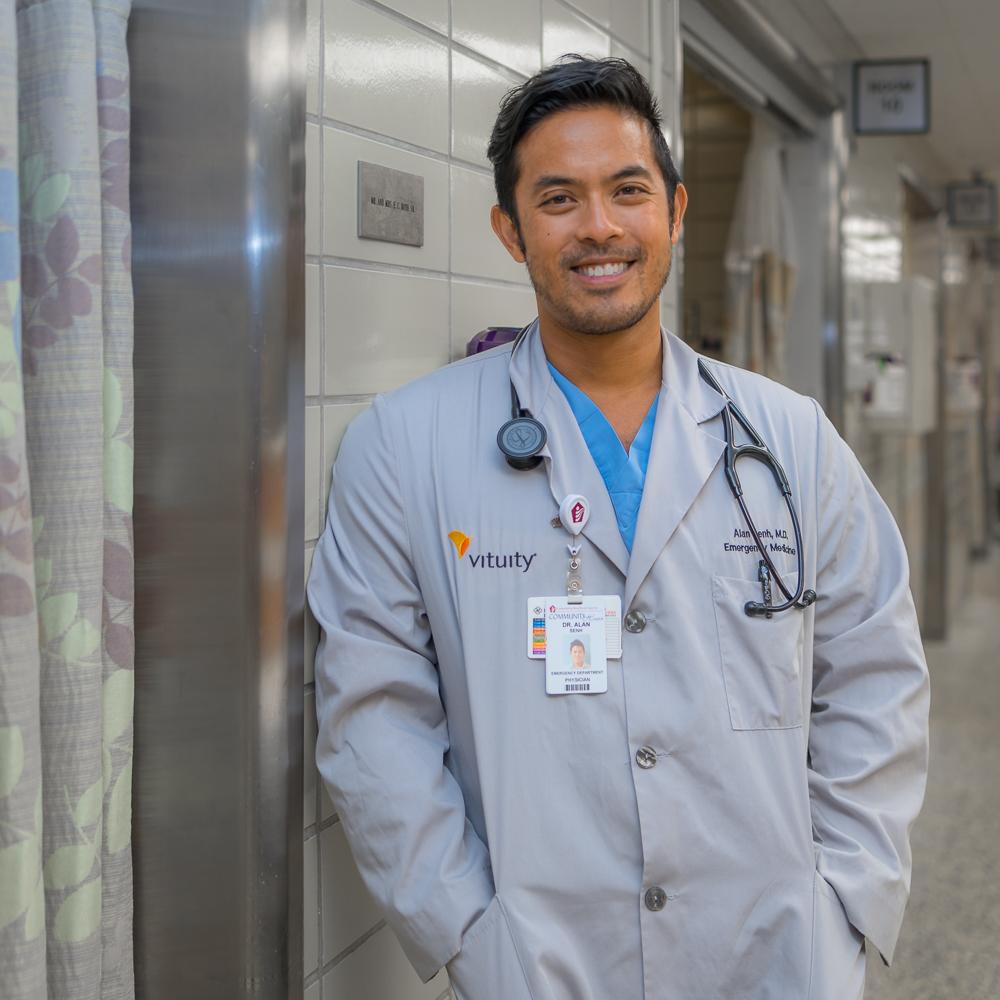 AlAn Senh, MD - Residency: John H Stroger Cook County Hospital EMMedical School: Northwestern UniversityUndergraduate: Pepperdine UniversityHometown: Las Vegas, NVHobbies: tennis, martial arts, music