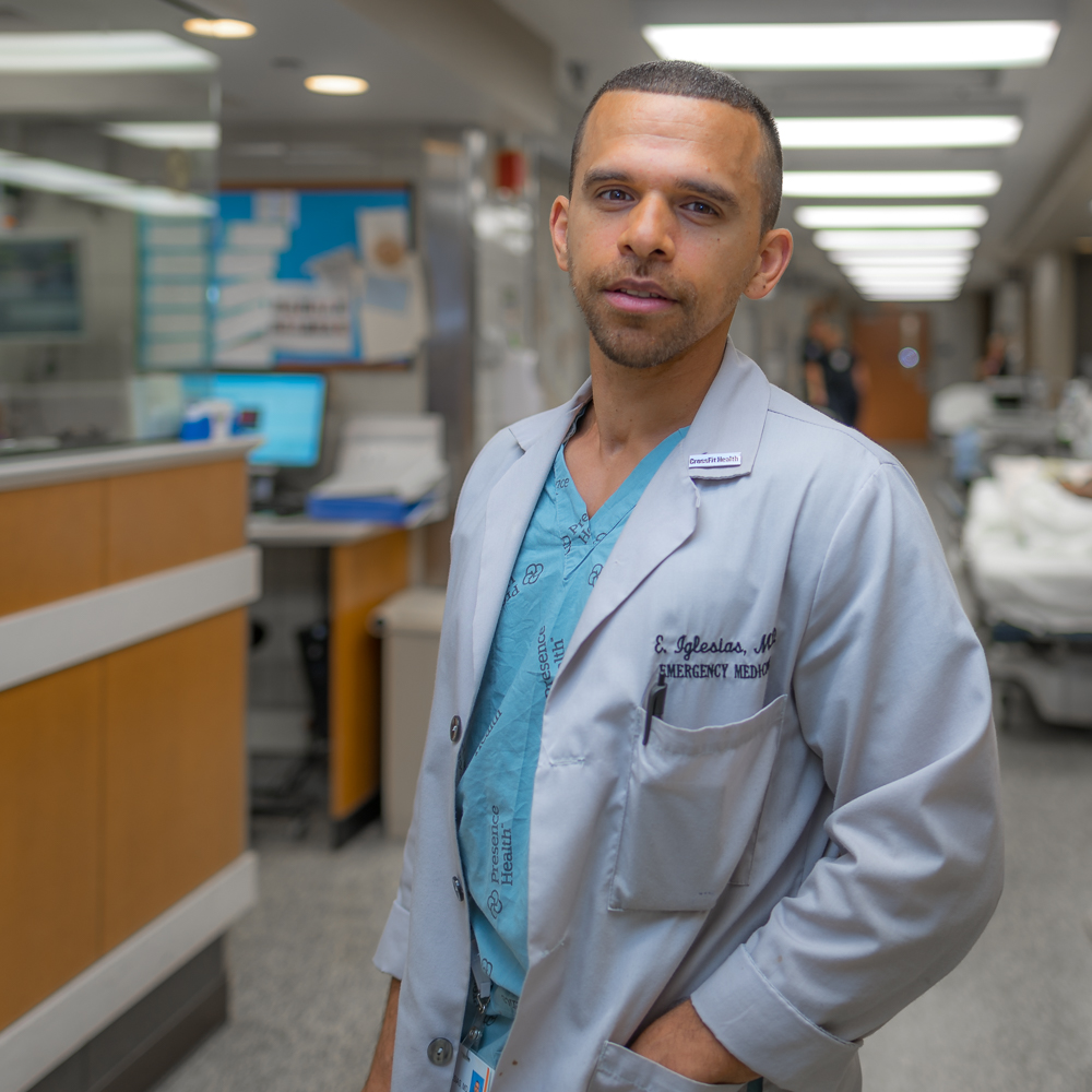 Eduardo Iglesias, MD - Residency: University of Chicago EMMedical School: Northwestern UniversityUndergraduate: UICHometown: Chicago, ILHobbies: fitness, mixed martial arts, basketball