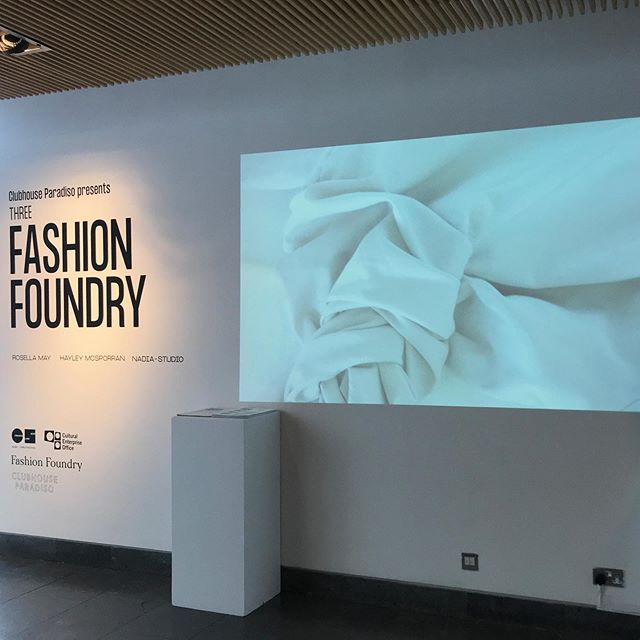 Our exhibition on Floor 4 at @thelighthouseglasgow is now open! - Your chance to see three videos created by @clubhouseparadiso in response to the work of our Emerging Designers @studio_hayleymcsporran @rosella.may @nadia_studio and the work they created whilst in the Fashion Foundry studio.