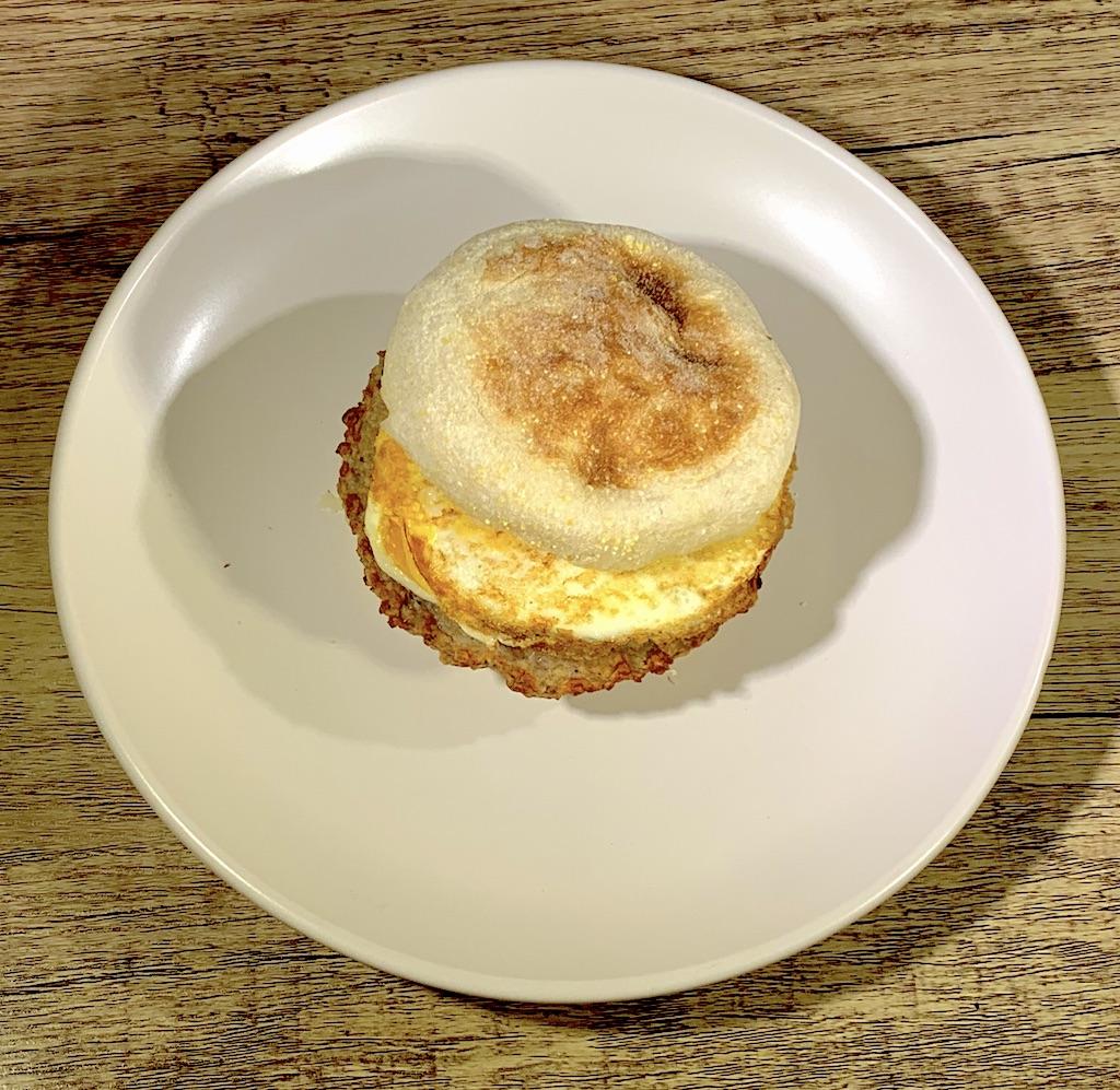 Turkey Sausage Breakfast Sandwich - Calories: 253Carbs: 24 gramsFat: 9 gramsProtein: 19 gramsContains: eggs, wheat