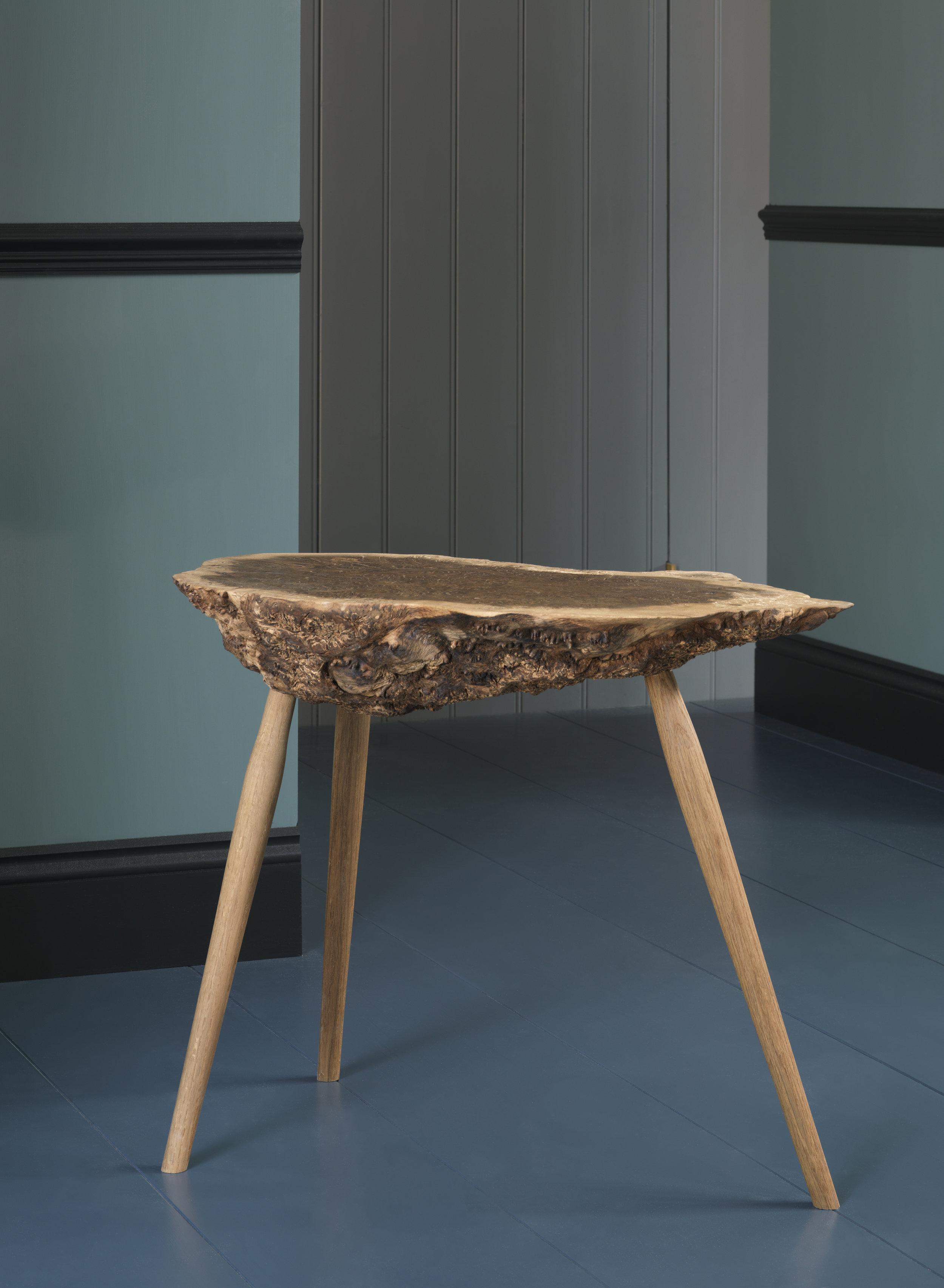 Burl Tripod Table -