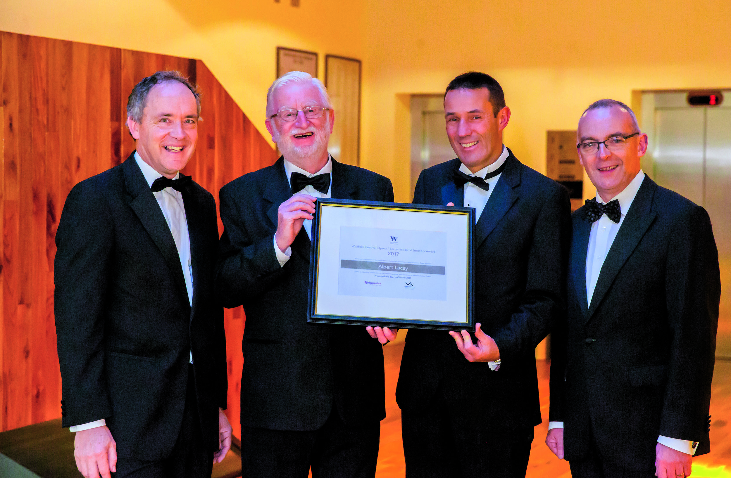 Pic 1 David Maguire, Albert Lacey, David Lane (Ecclessiastical Insurance Group ) Chairman Ger Lawlor WFO photo Patrick Browne copy.jpg