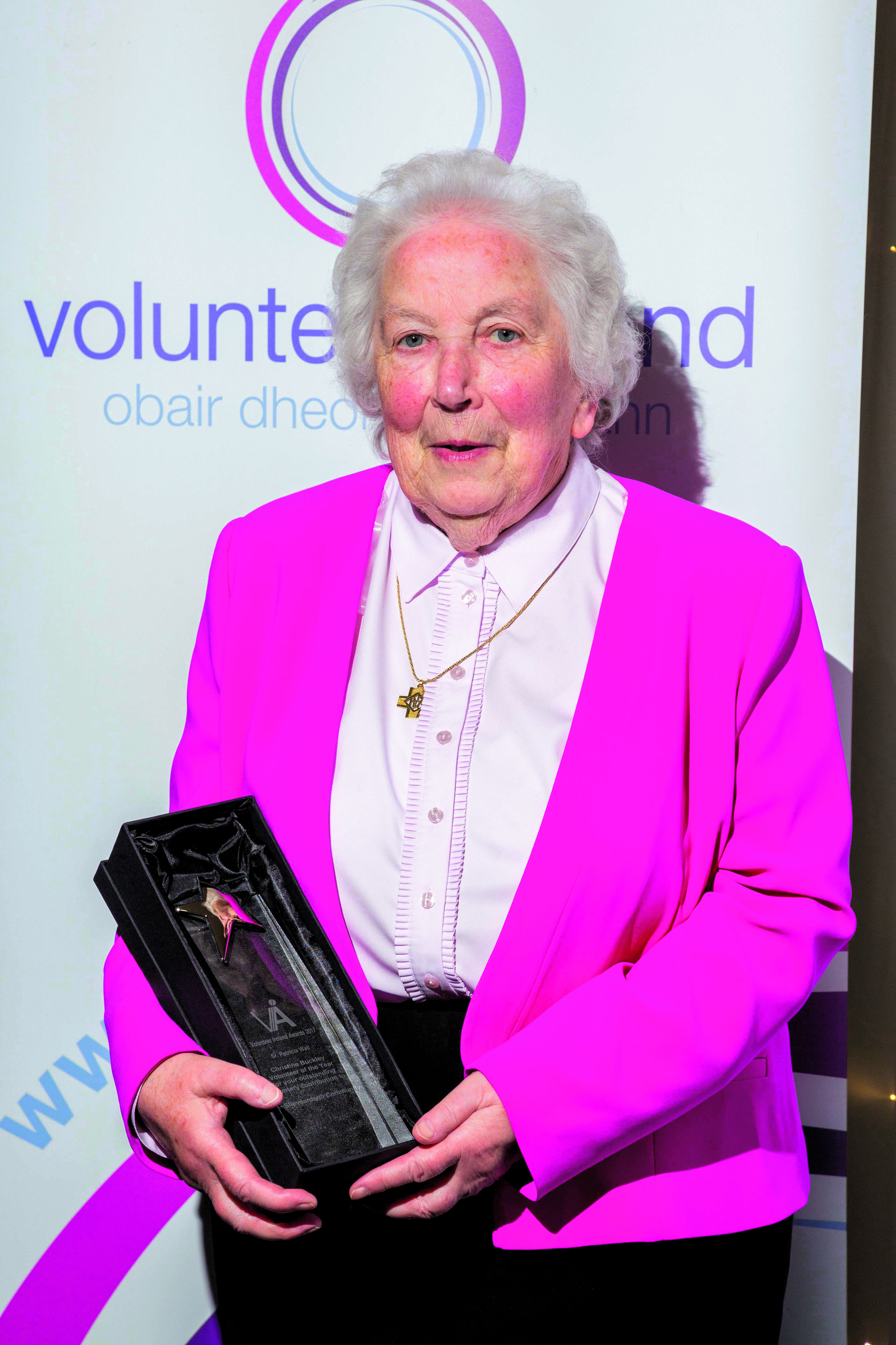 Sister Patricia with her Volunteer of the Year award .jpg