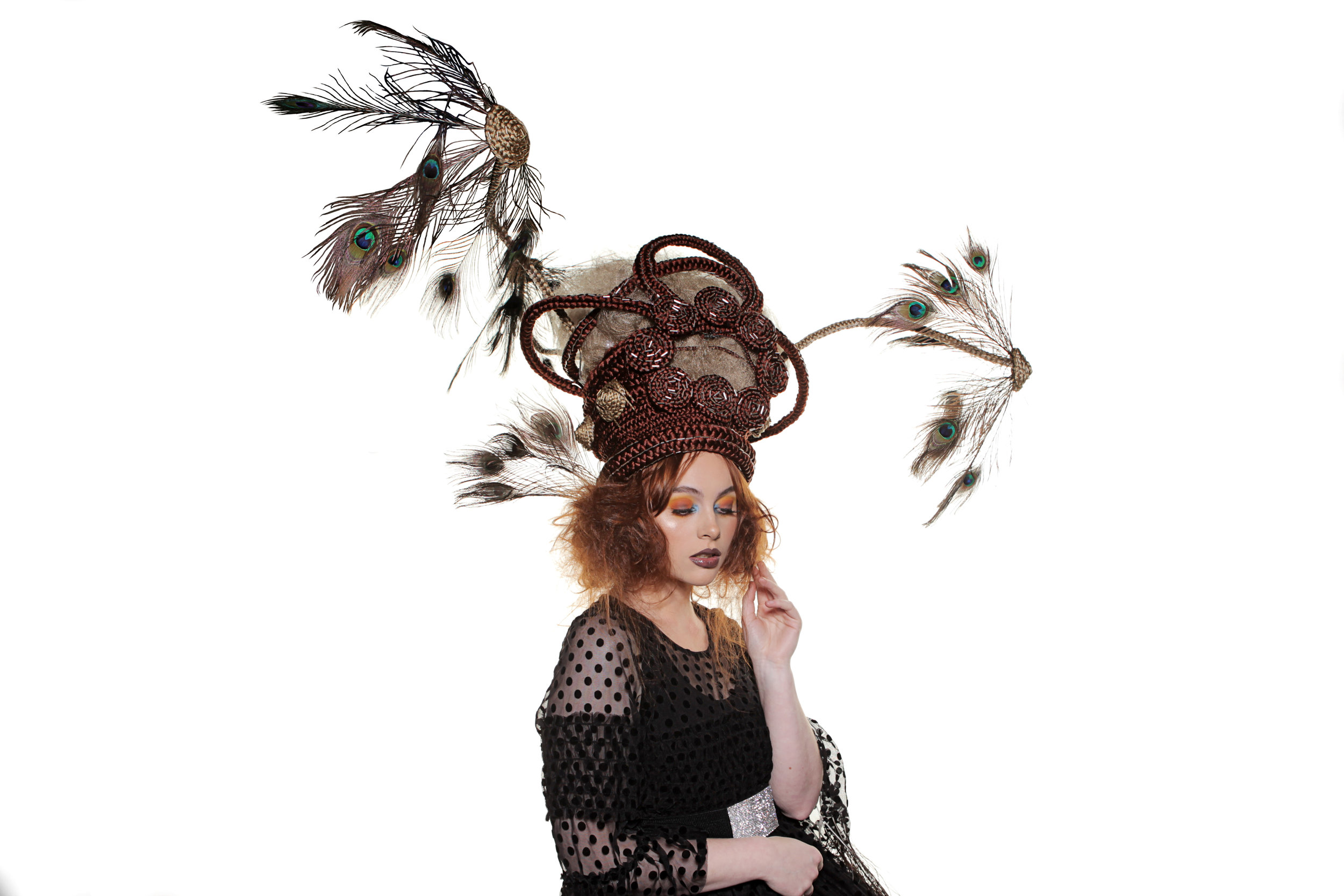 Megan wears a headpiece created by Andrew for the Alfaparf Milano Fantastic Hairdresser awards in November and placed in the top 10 .jpg