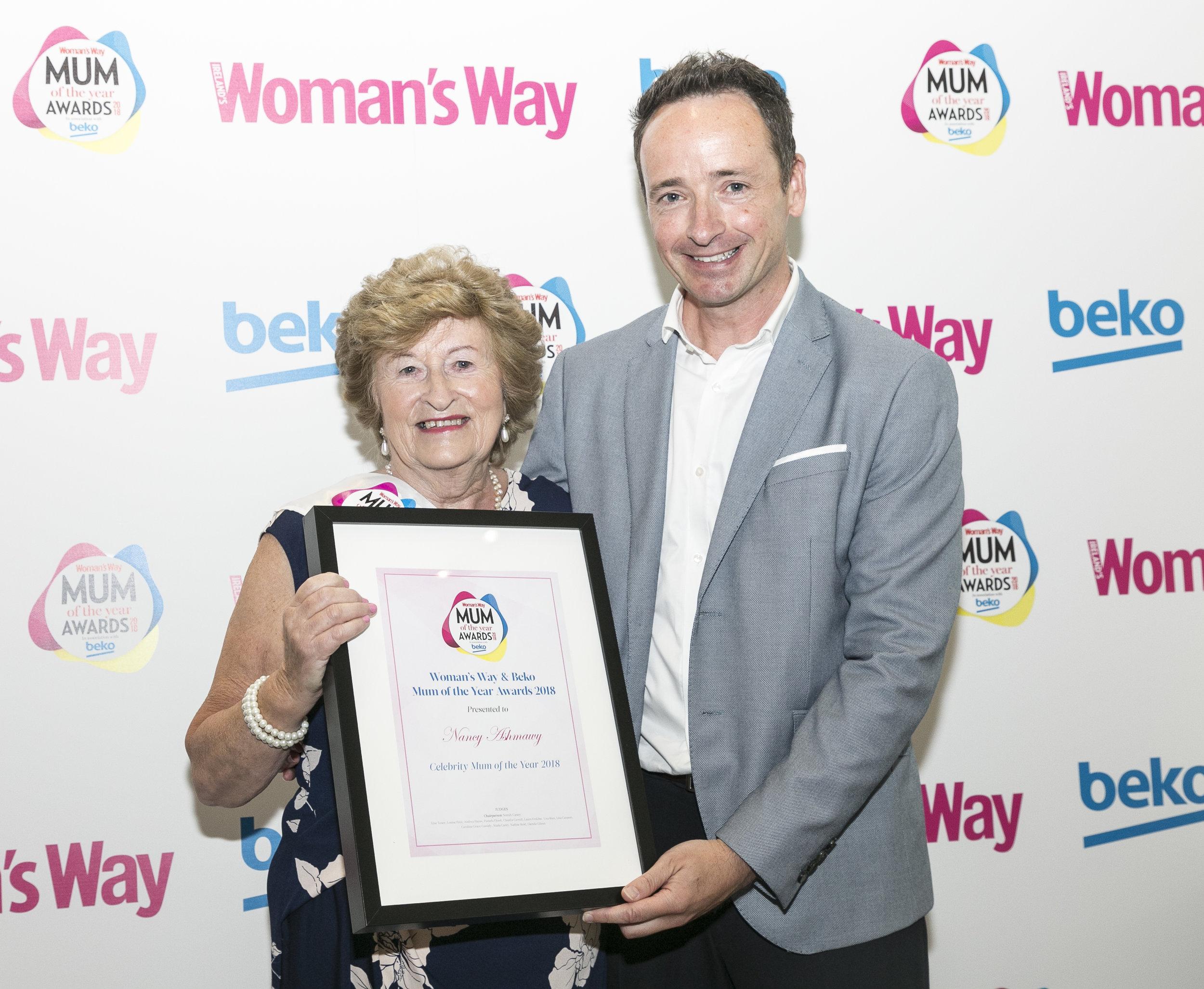Ian pictured with Celeb Mum Nancy Ashmawy