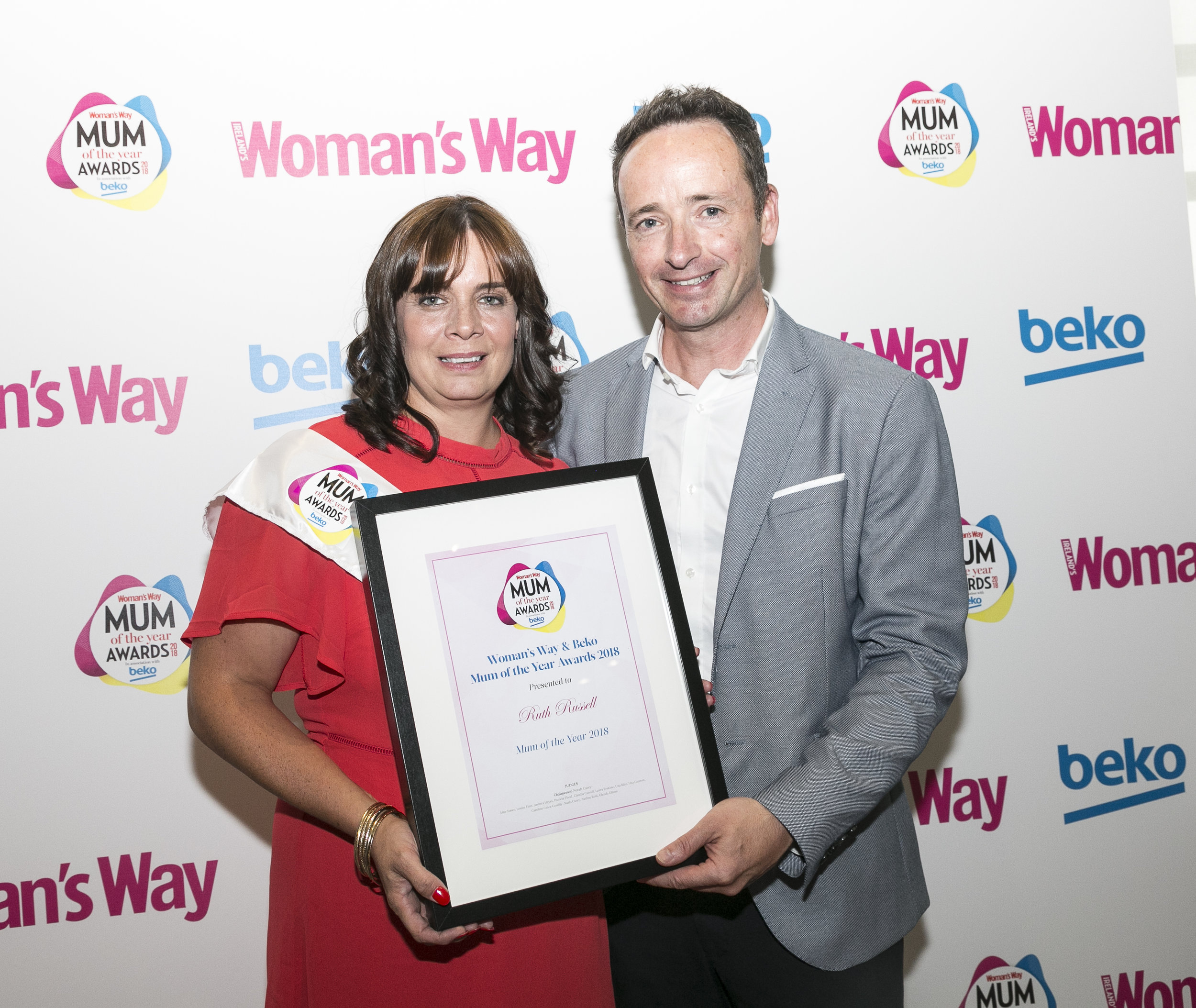 Ian pictured with Mum of the Year Ruth Russell