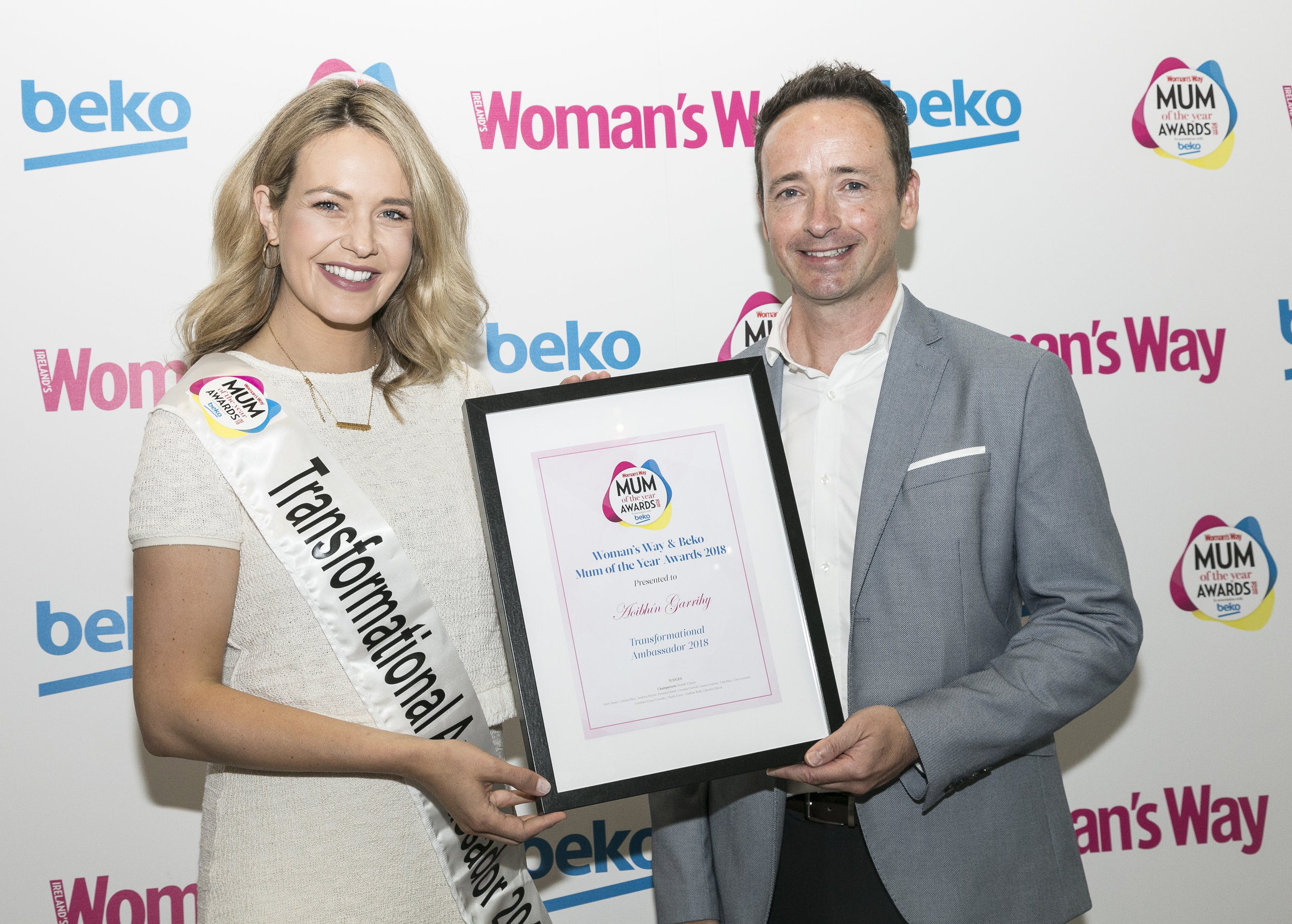Ian pictured with New Mum Ambassador Aoibhín Garrihy