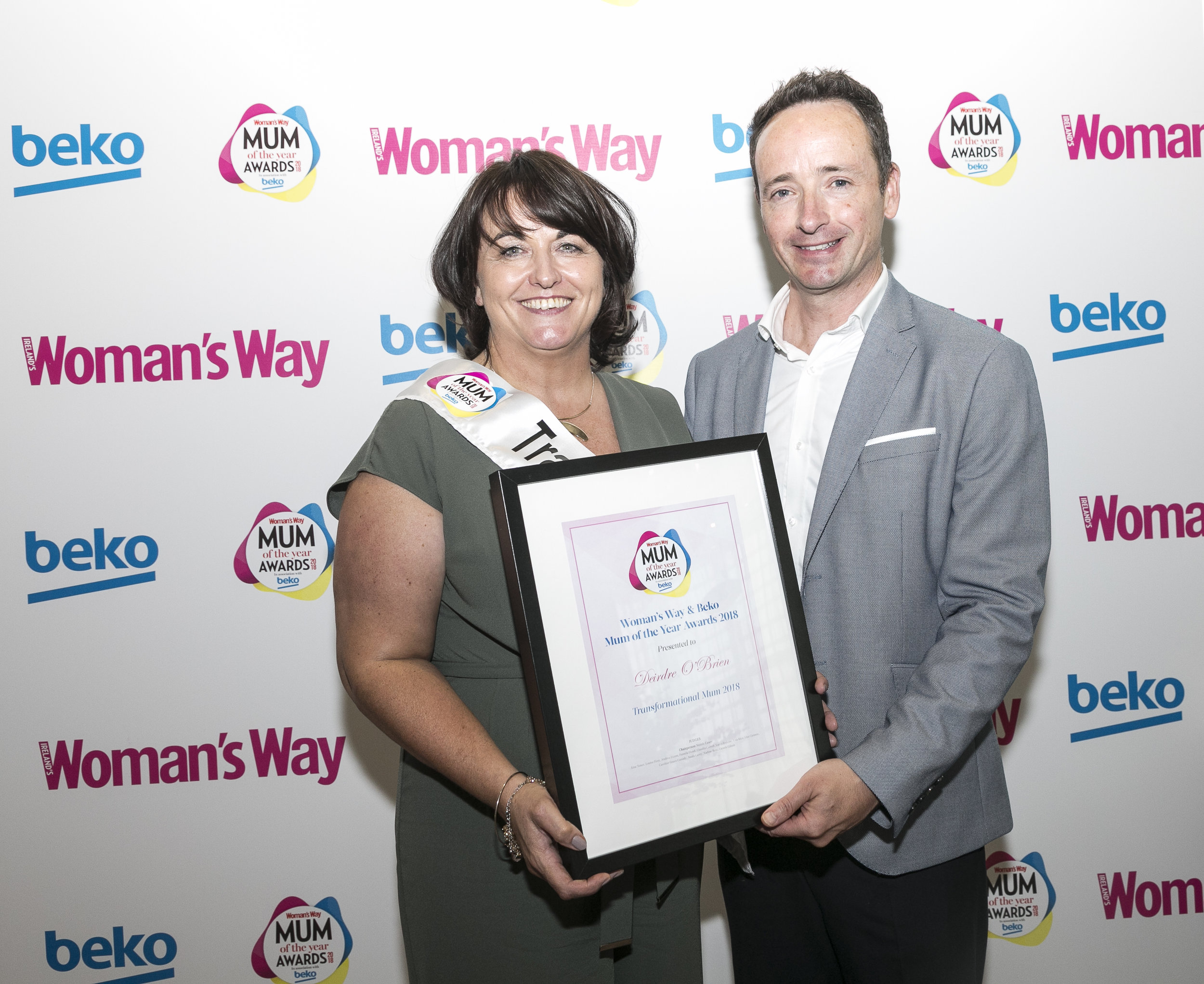 Ian pictured with Transformational Mum Deirdre O'Brien