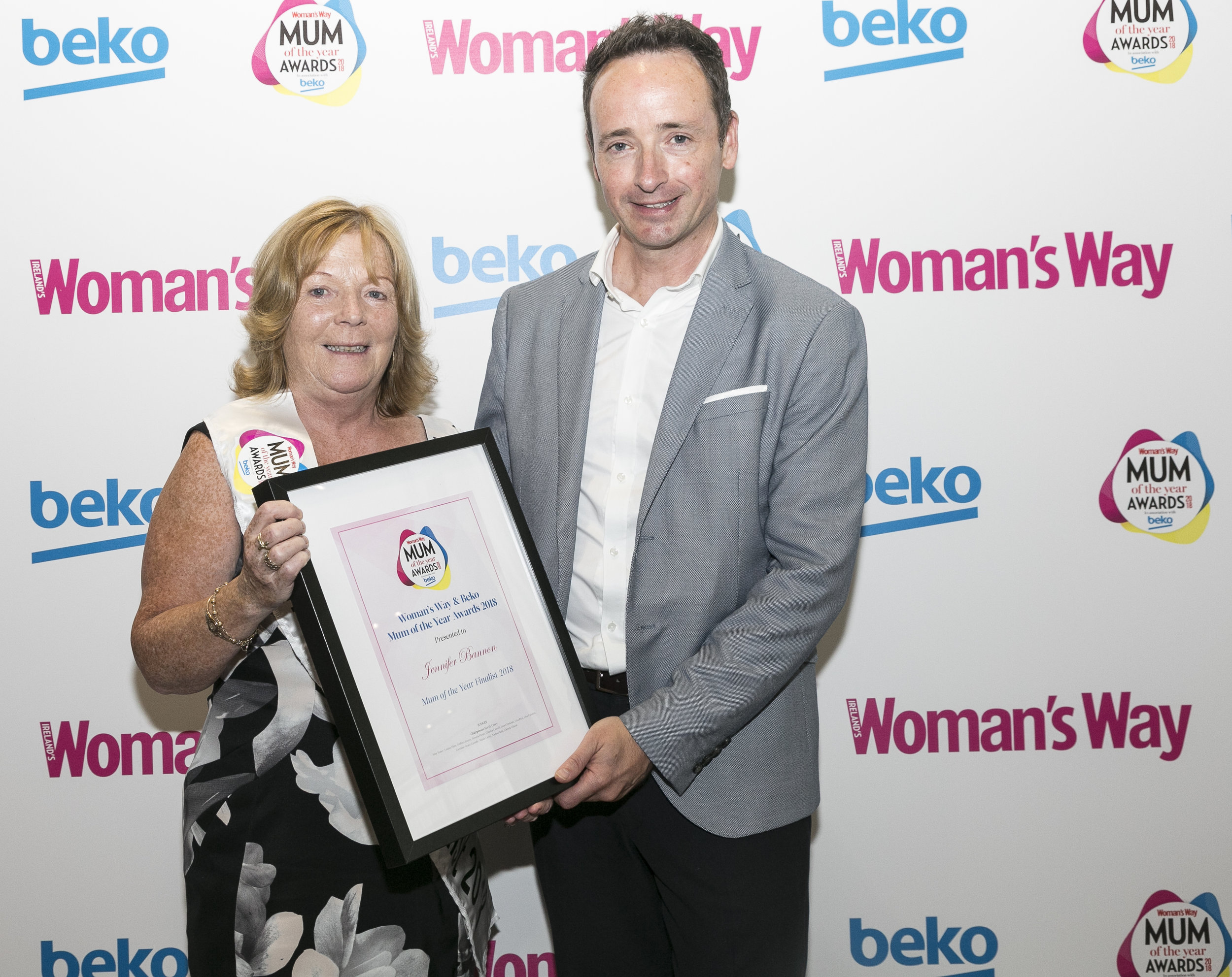 Ian pictured with Mum of the Year Finalist Jennifer Bannon
