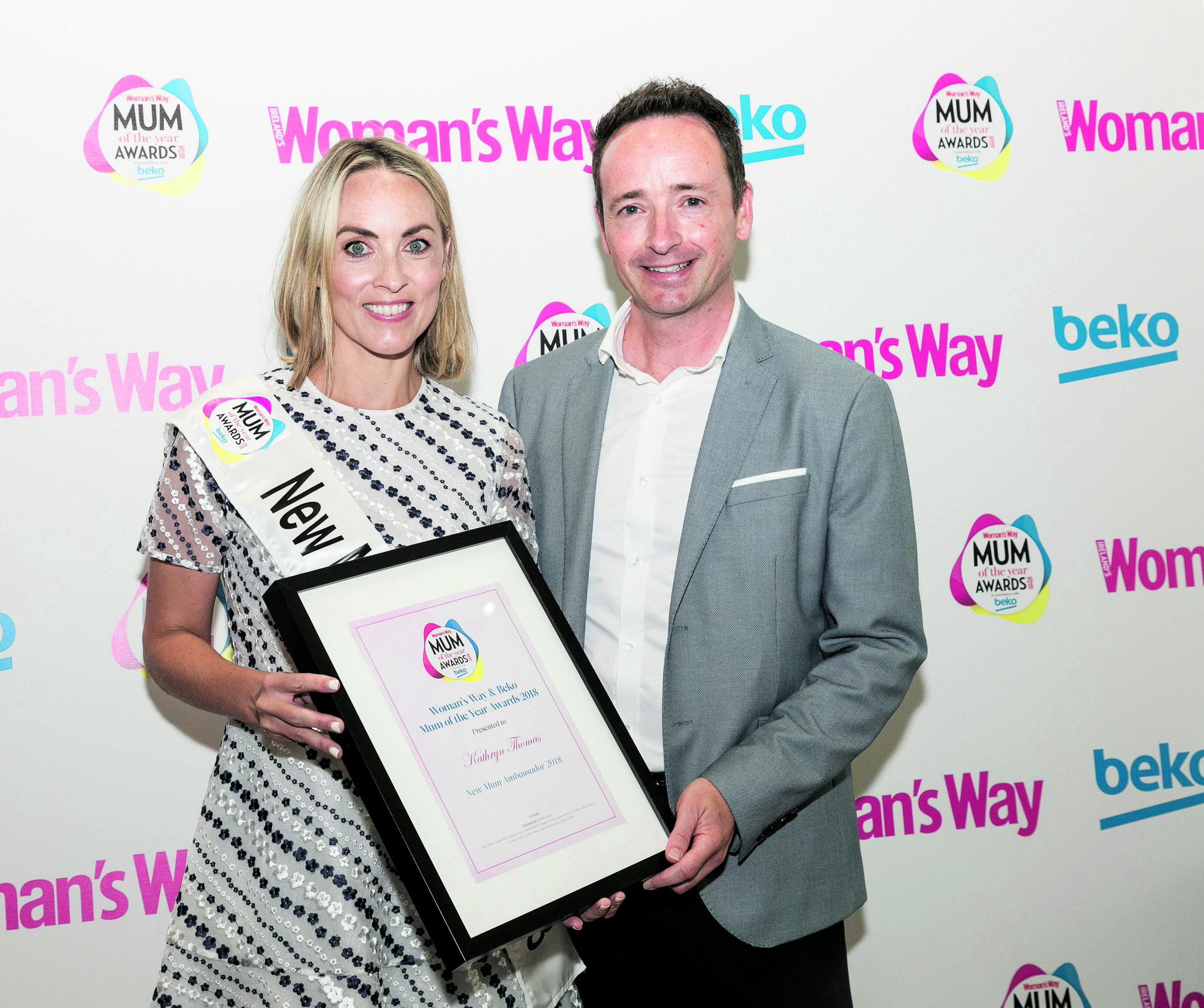 Ian pictured with New Mum Ambassador Kathryn Thomas