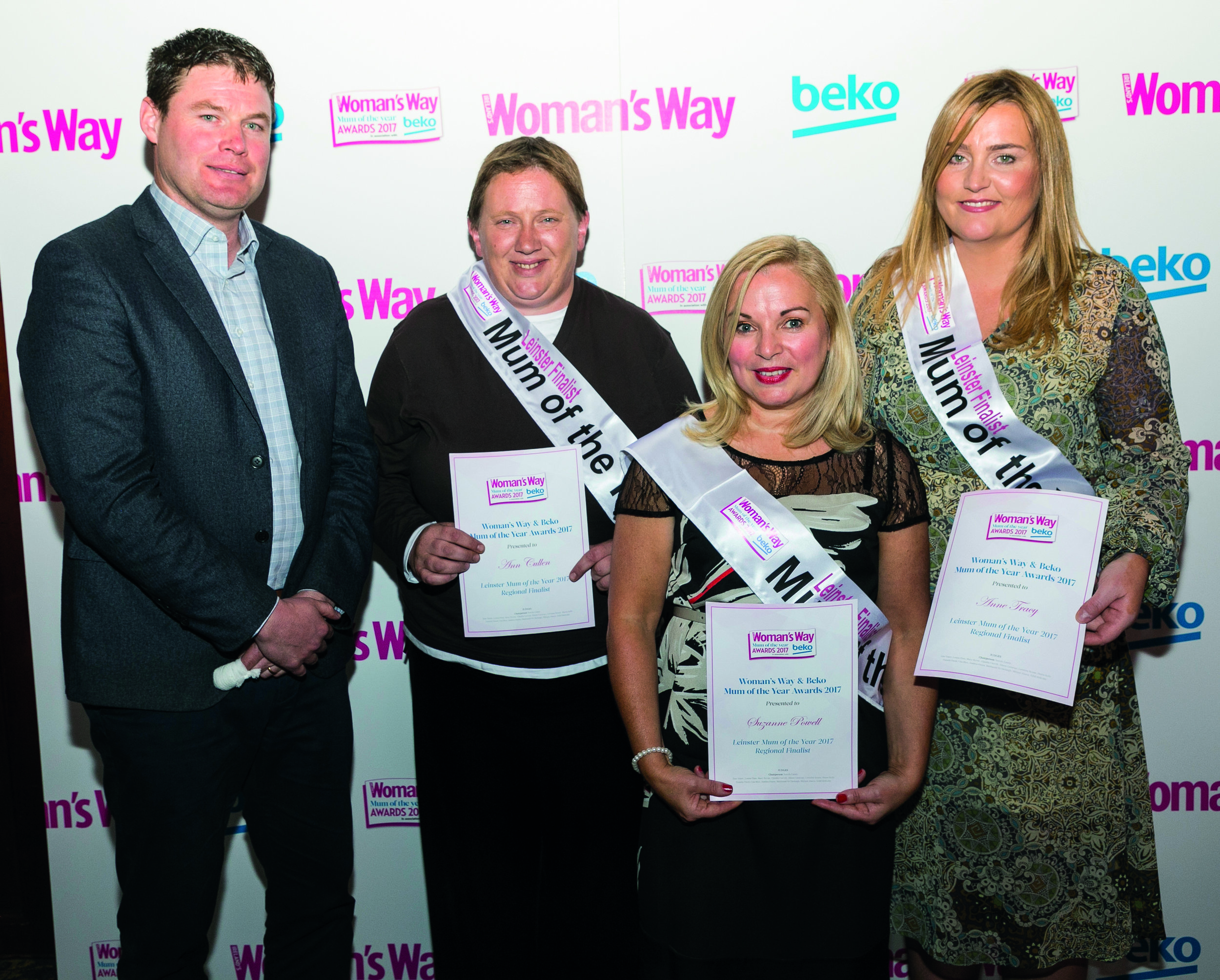 Shane pictured with Pauline Cullen, Suzanne Powell and Anne Tracy
