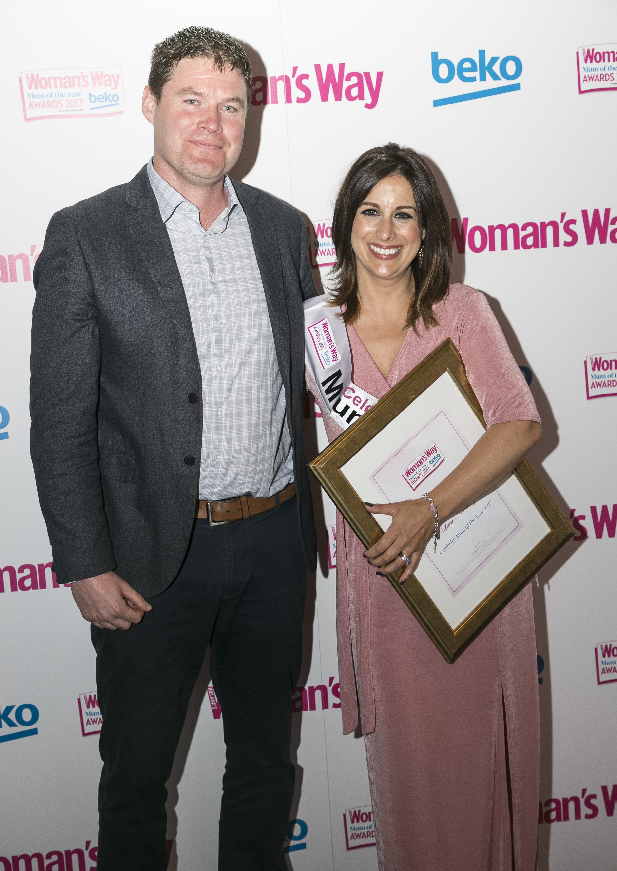 Shane pictured with our Celebrity mum of the Year, Lucy Kennedy
