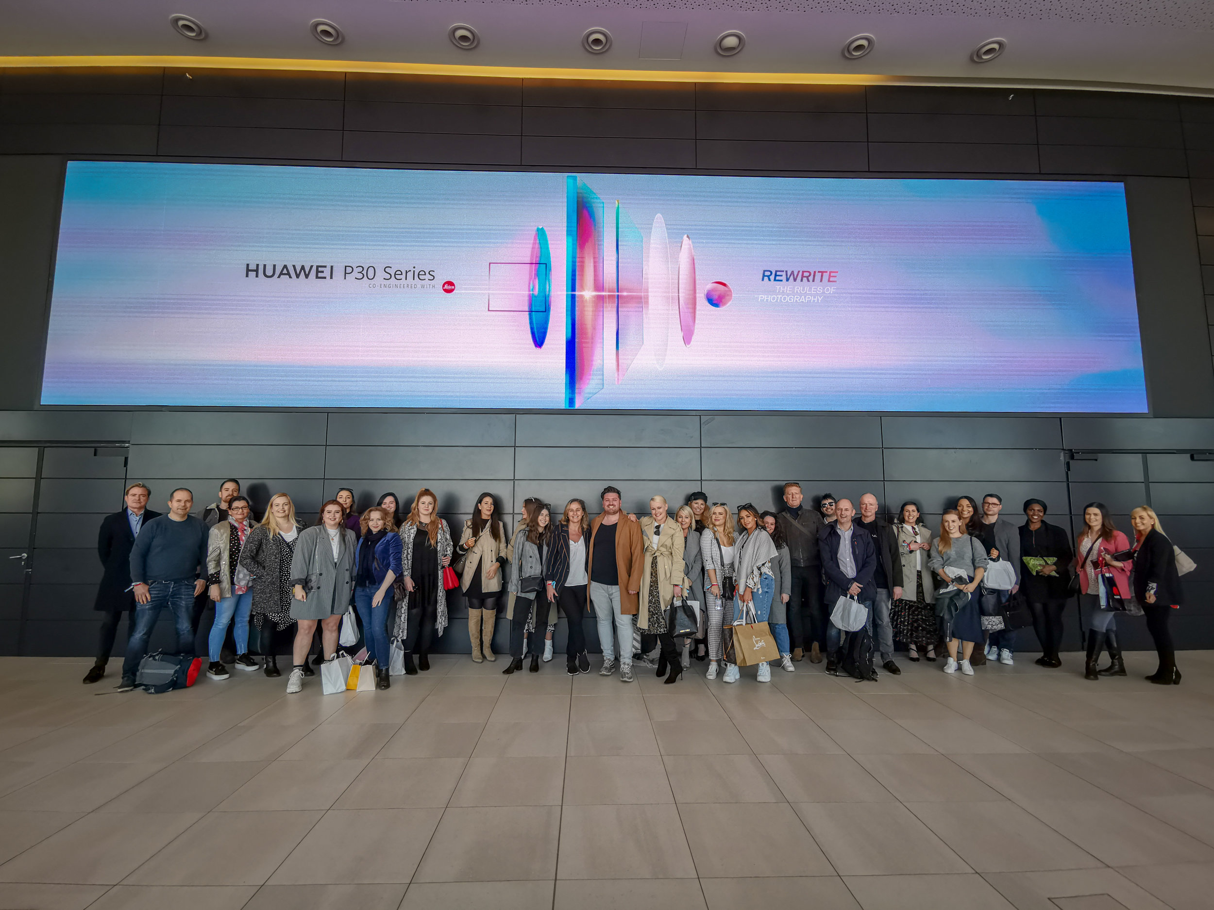 The press team at the HUAWEI Paris launch  Credit: Evan Doherty