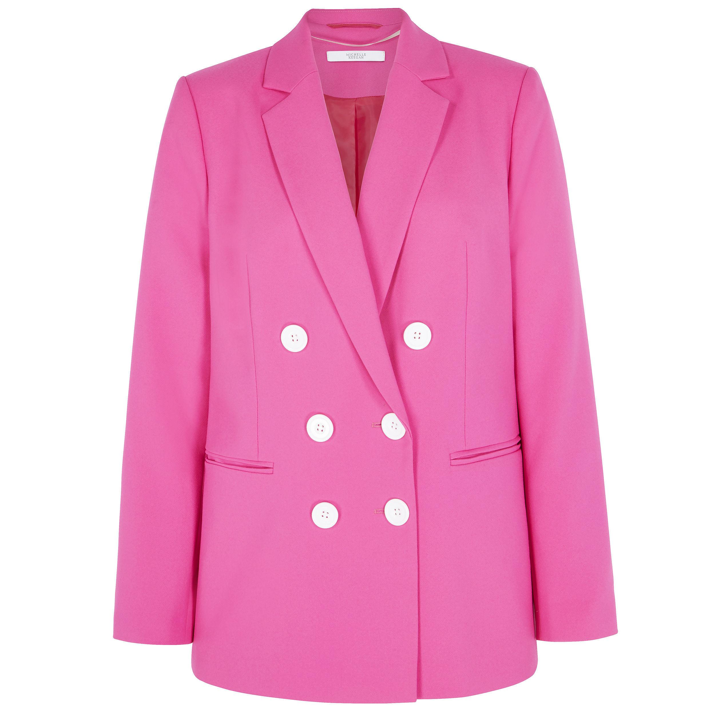 2. Very Michelle Keegan Oversized Double Breasted Blazer - Fuchsia, £60