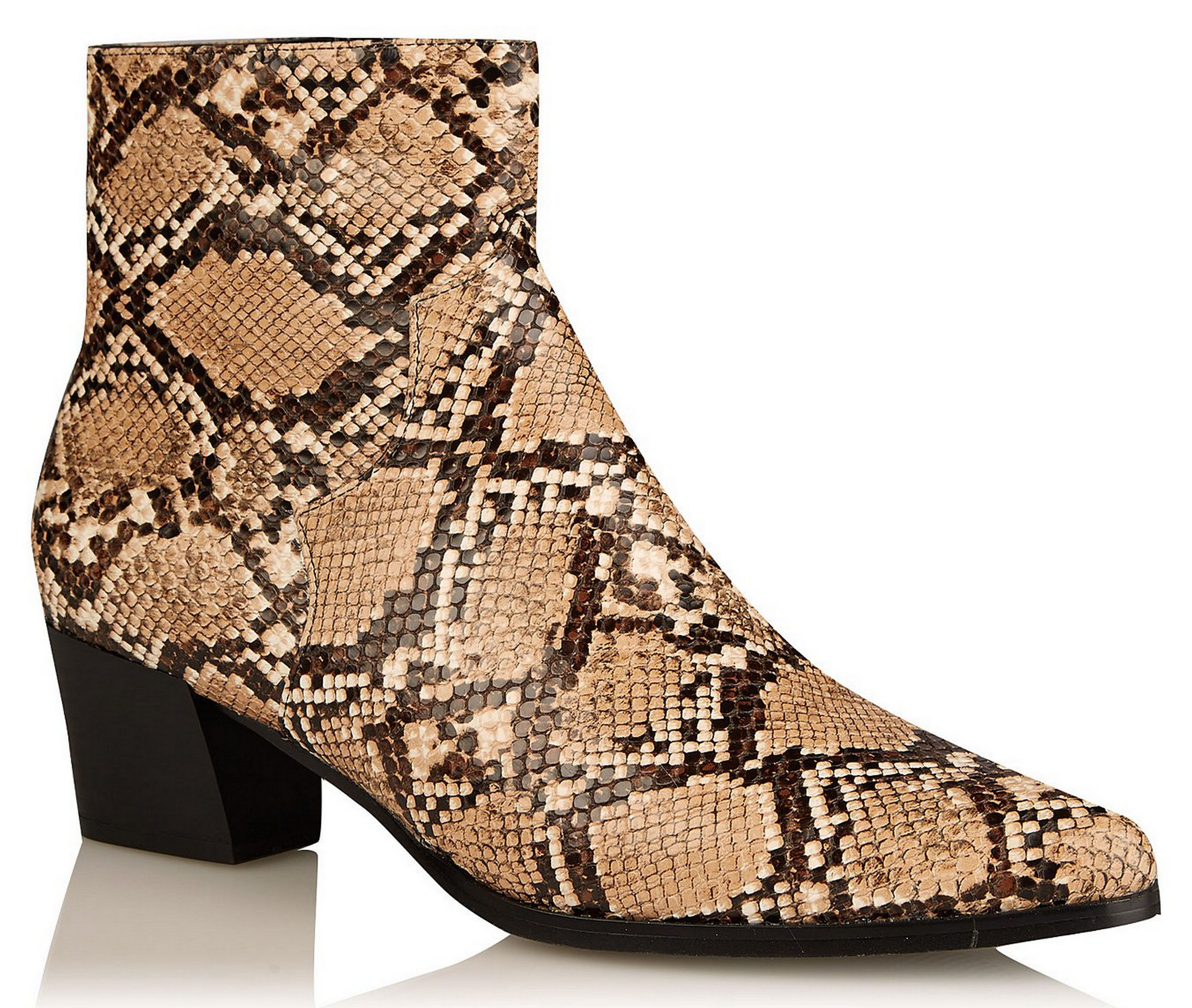 George at Asda snakeskin print textured western boots