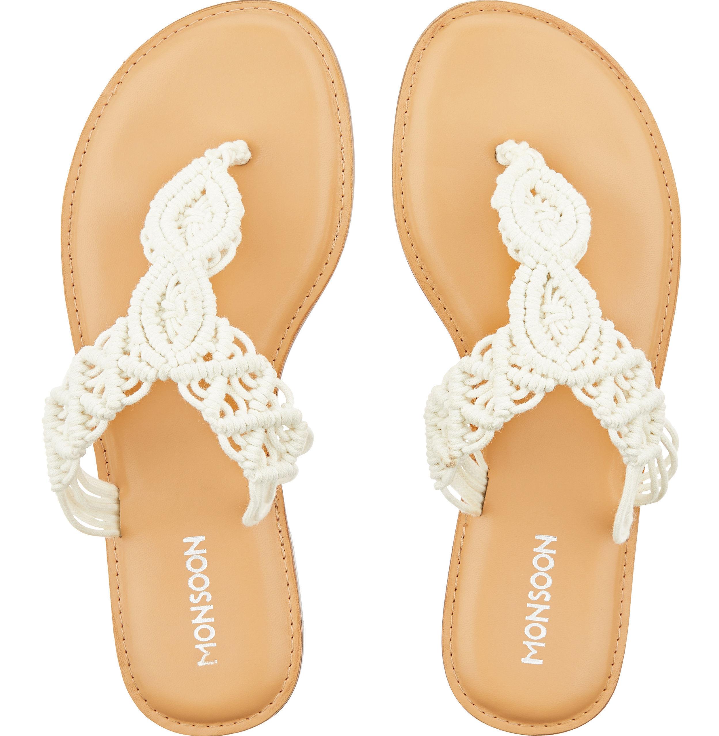 Monsoon Maiya Macrame Toe Post Sandals