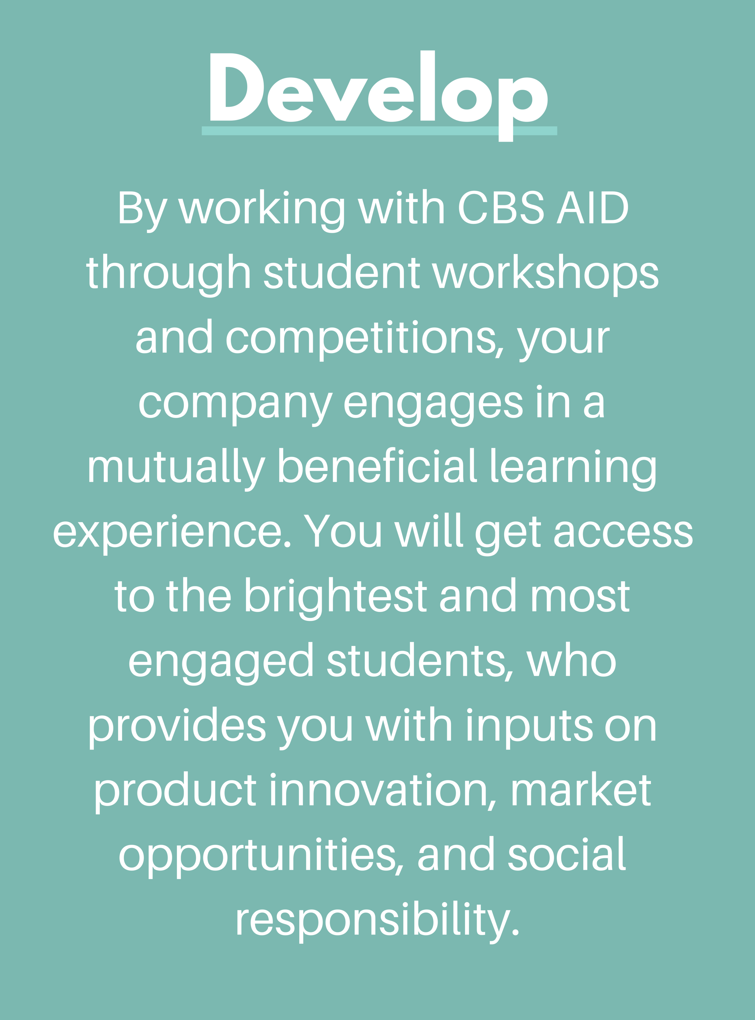 CBS AID Develop Partnership