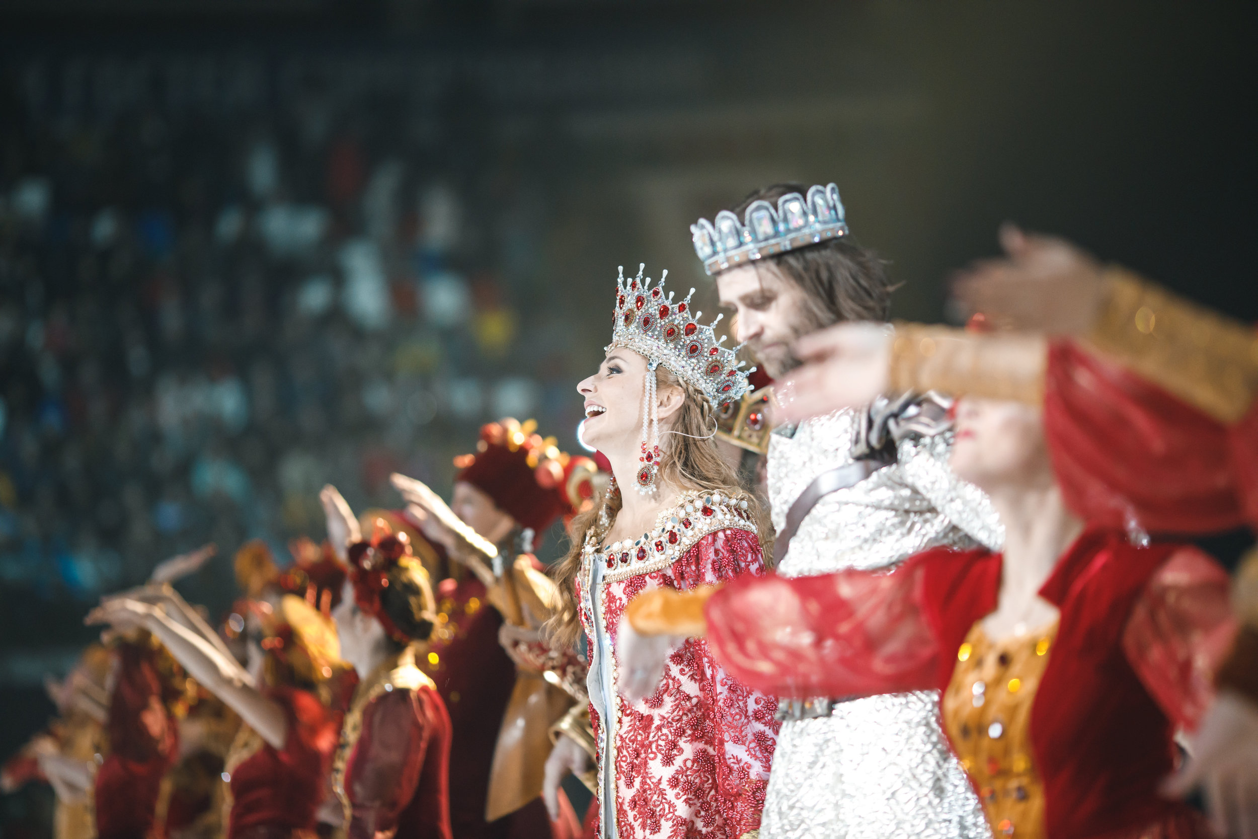 Eventica was the operator of the spectacular supershow-fairytale on ice Ruslan and Lyudmila starring multiple-time World and Olympic Champion Tatiana Navka  -