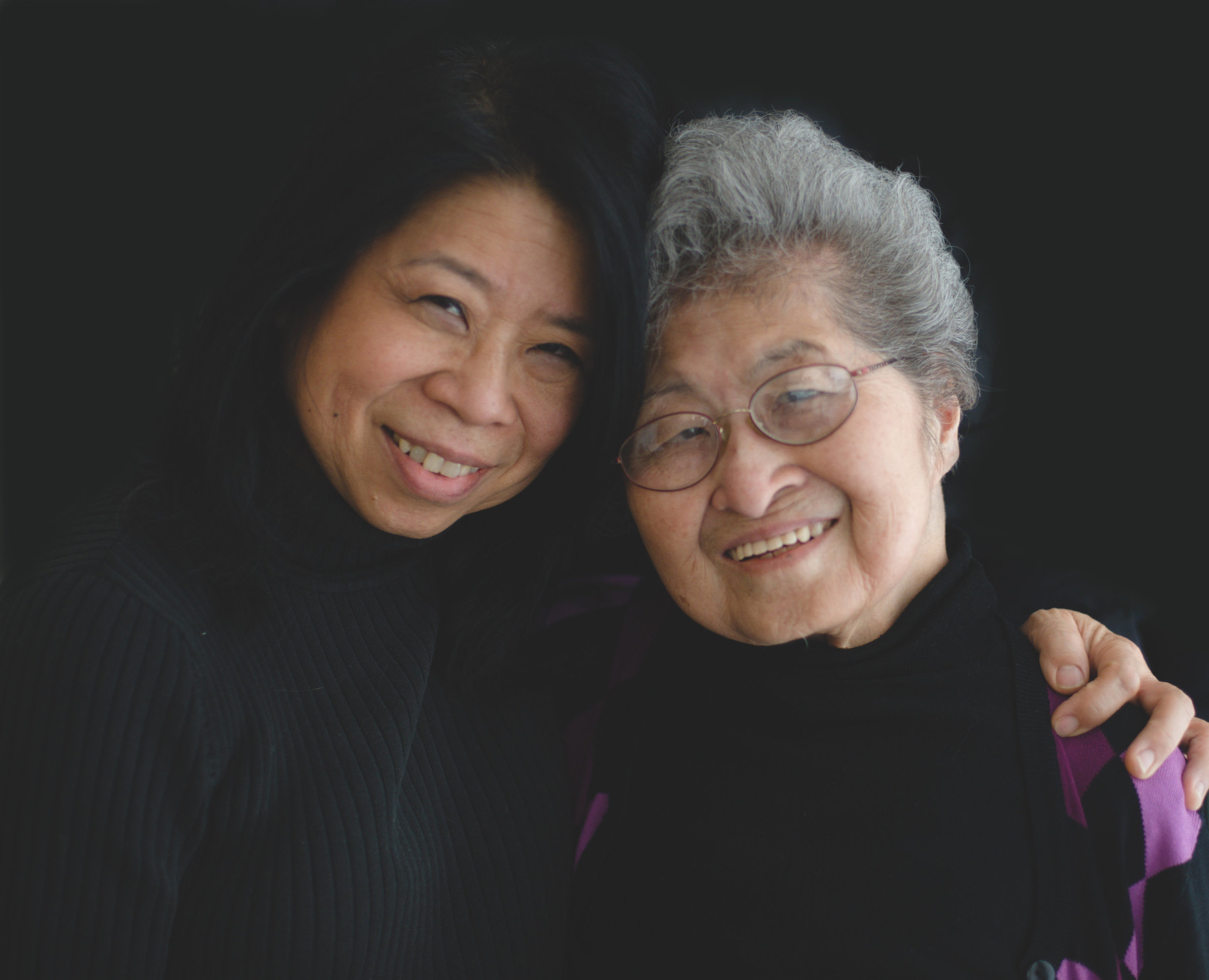 """Elaine and her 91-year-old mother, Fumiko, are close. Elaine says when Fumiko and her parents and siblings were taken from their California home, they first lived in horse stalls at a racetrack. """"And then they were put on trains when the camps were ready. They were put in trains and the shades were drawn so they didn't know where they were going."""" Elaine still wonders what they thought as they rode that train for four days."""