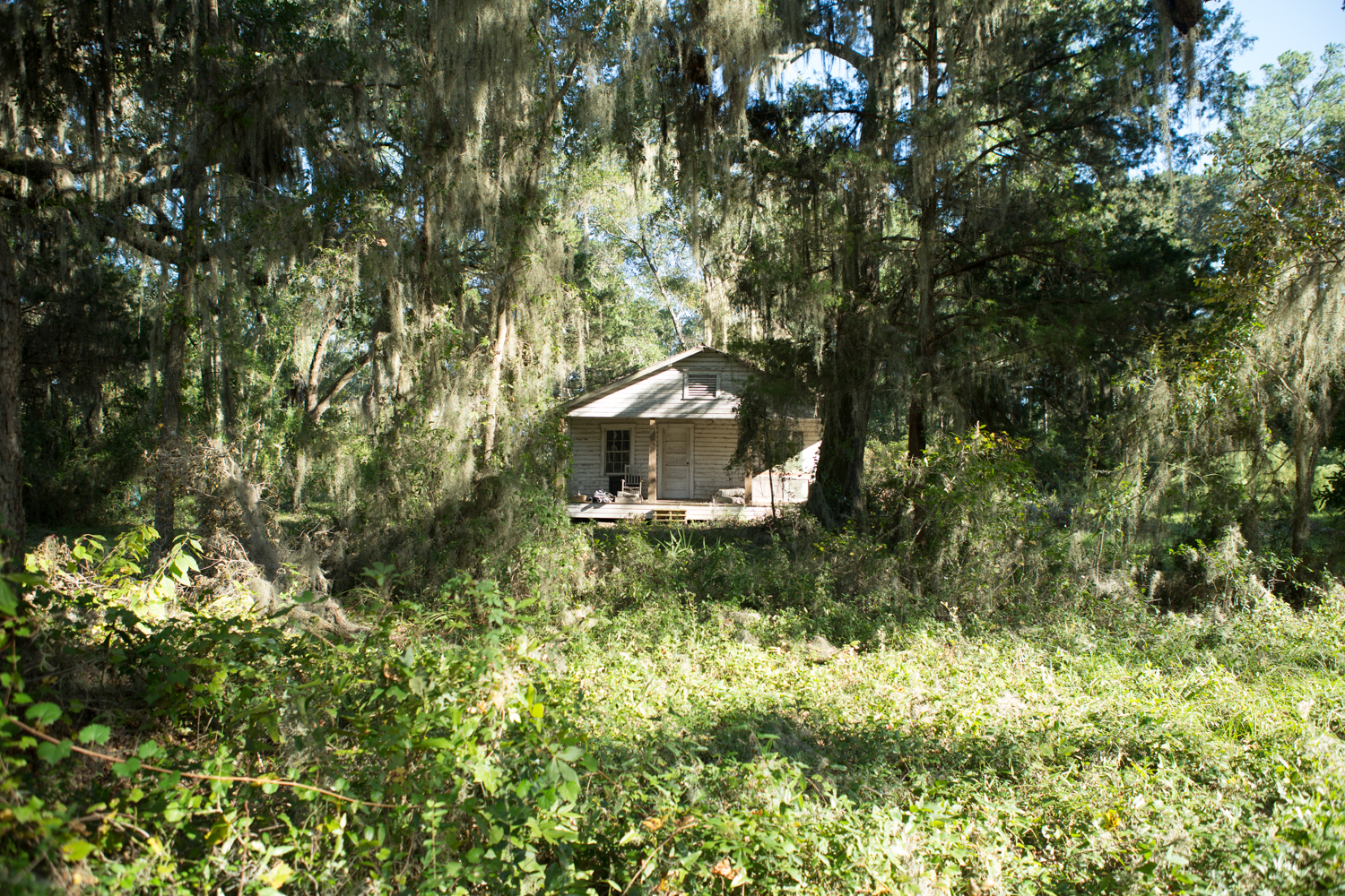 Gullah Geechee elder Charles Jordan was raised in this house as a child—his father was a former slave whose family stayed on the property to take care of the white man who owned the house until he died.