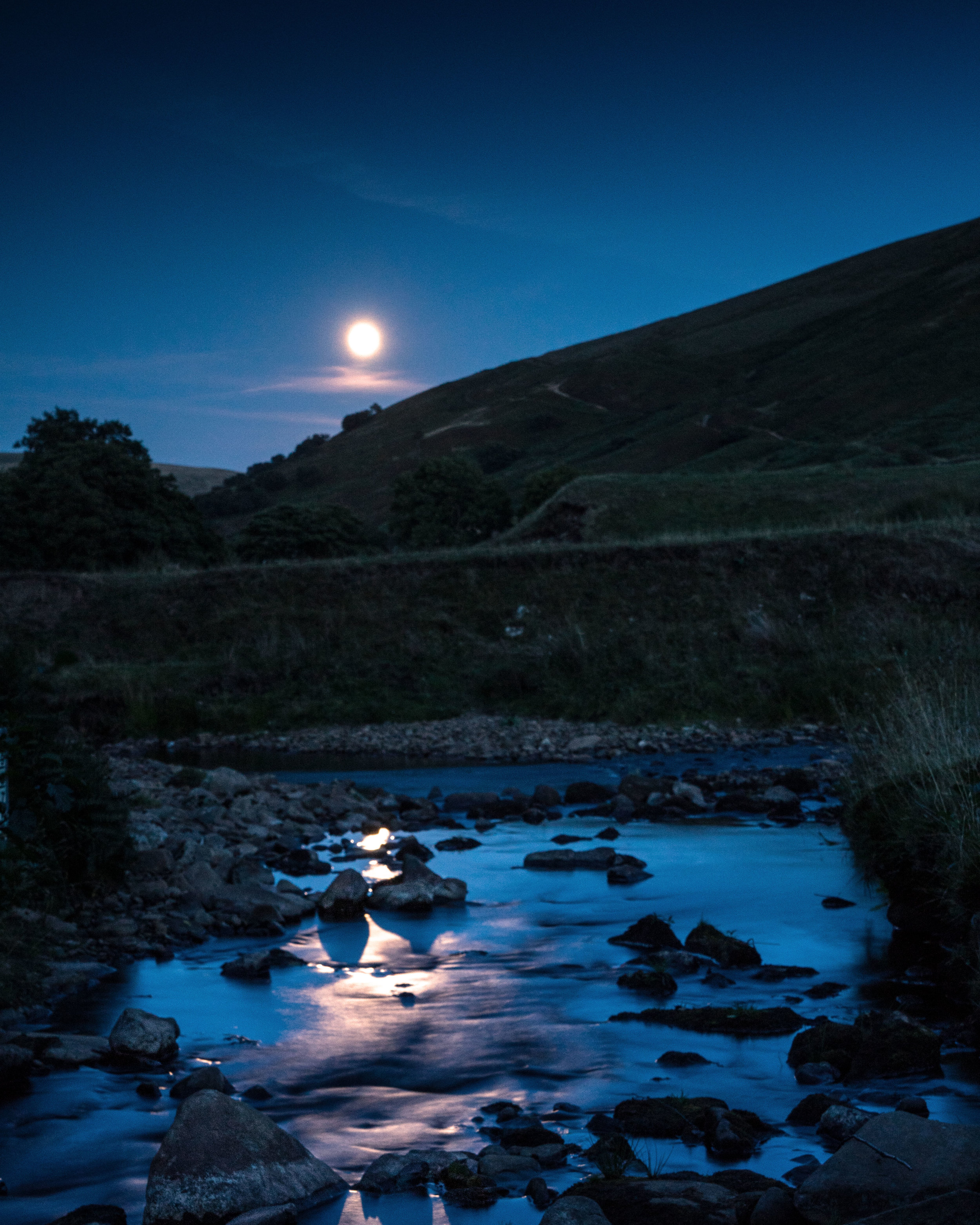 And as we got back to the car I managed to grab this which was shot at 70mm as the moon came up and reflected off the river.