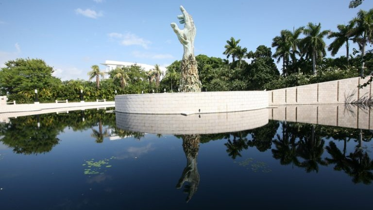 Holocaust Memorial - The Holocaust Memorial of the Greater Miami Jewish Federation is aHolocaust memorial at 1933-1945 Meridian Avenue, in Miami Beach,Florida. It was conceived by a committee of Holocaust survivors in 1984. The memorial was designed by Kenneth Treister.