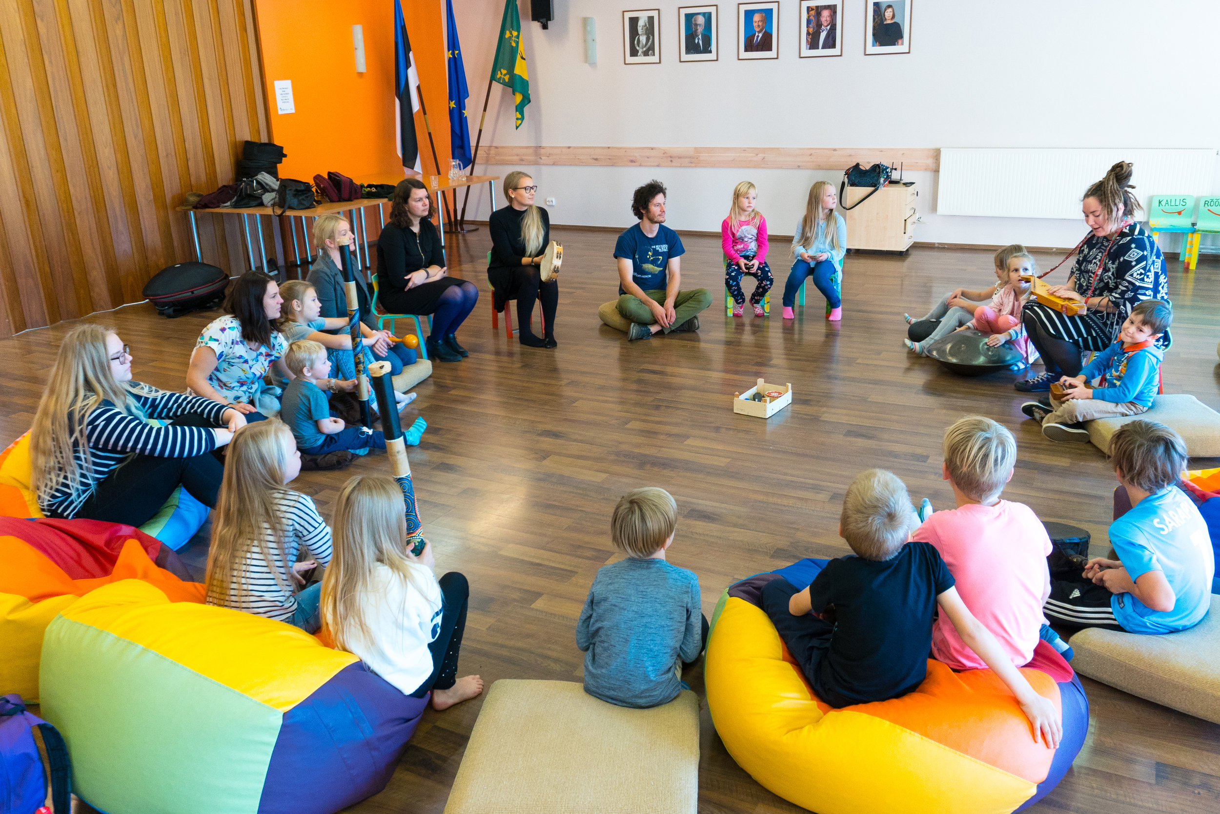 Handpan and music workshop in Are Youth Centre, Estonia; lead by us and the magical Aile Alveus-Krautmann.