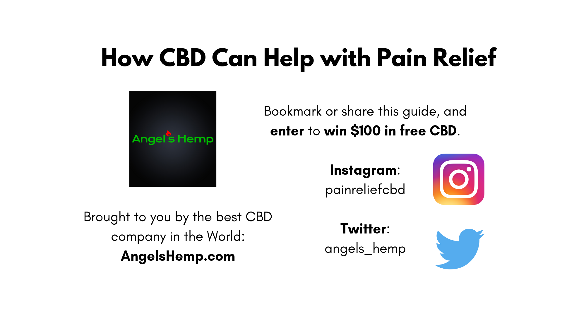 CBD for Pain Relief: How CBD Works to Reduce Chronic and Acute Pain, Inflammation, Fatigue, and Soreness, by AngelsHemp.com
