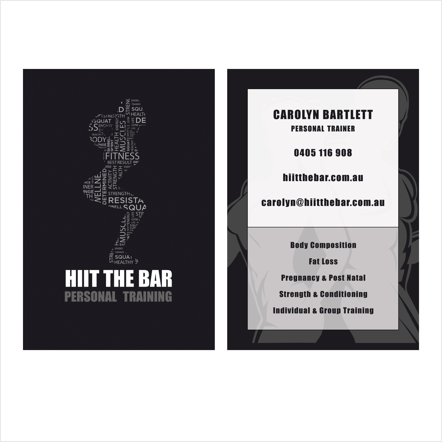 HIIT The Bar, Personal Training