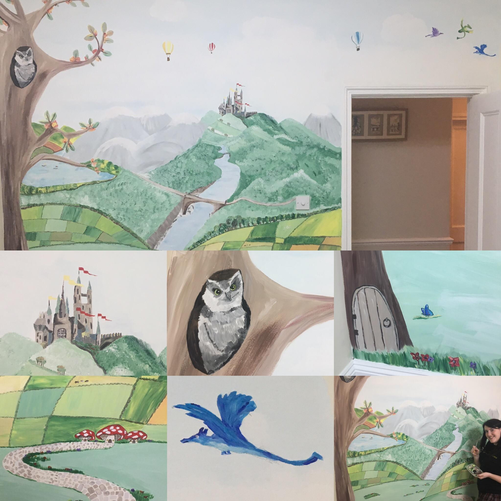 Nursery mural painting