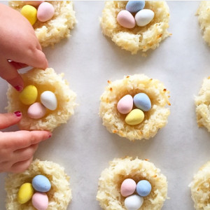 Easter Coconut Macaroon Nests