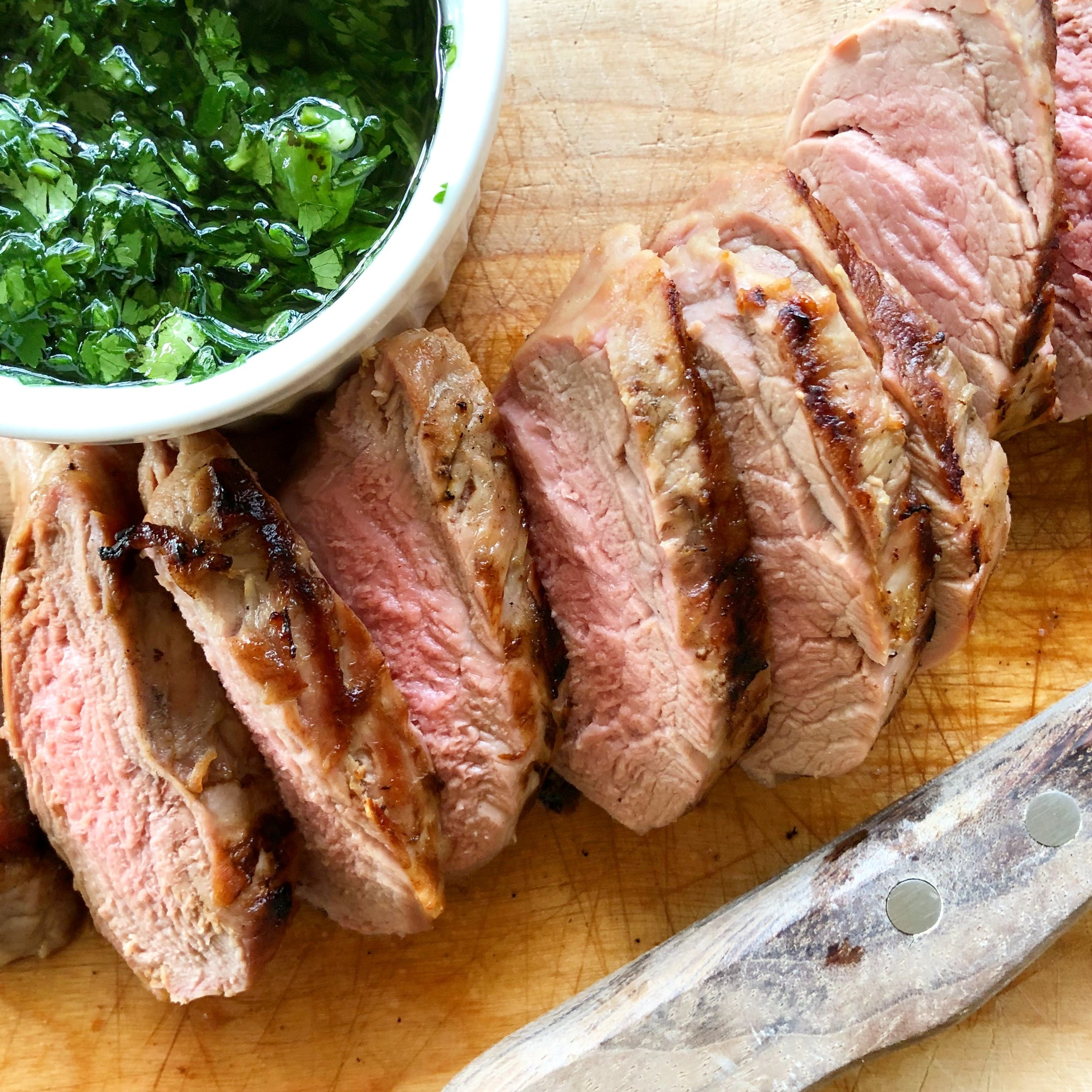 Grilled Pork Tenderloin with Chimichurri