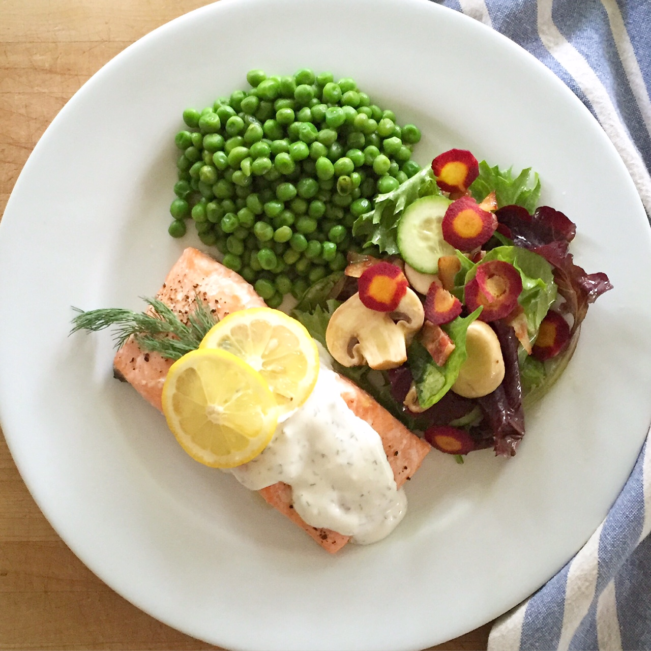Baked Salmon with Lemon-Dill Sauce
