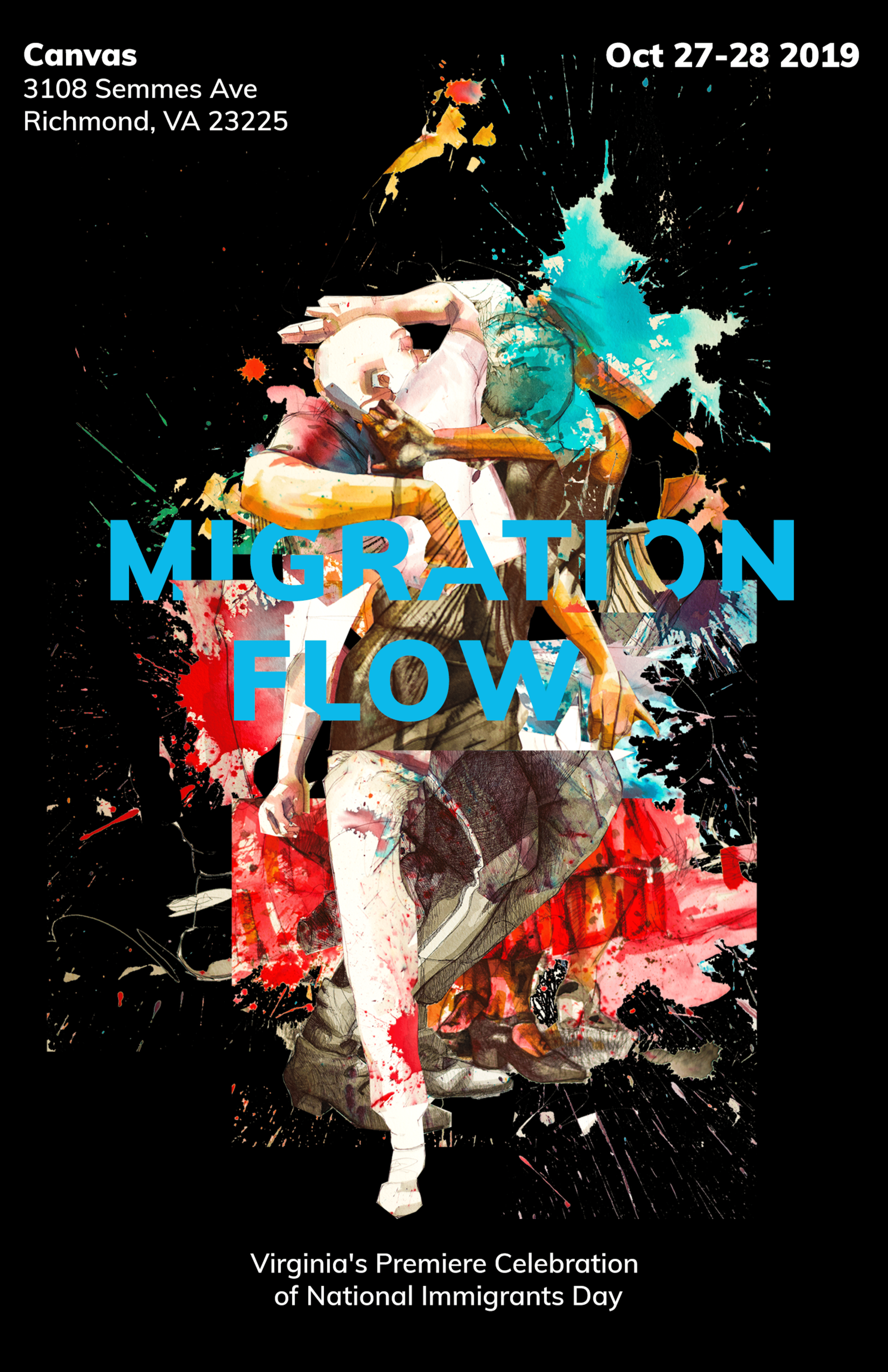 Initiatives of Change is honored to partner with Alfonso Perez Acosta on MIGRATION FLOW, the first public celebration of National Immigrants Day in Virginia. Above is a collage image of portrait drawings from the upcoming exhibition event.
