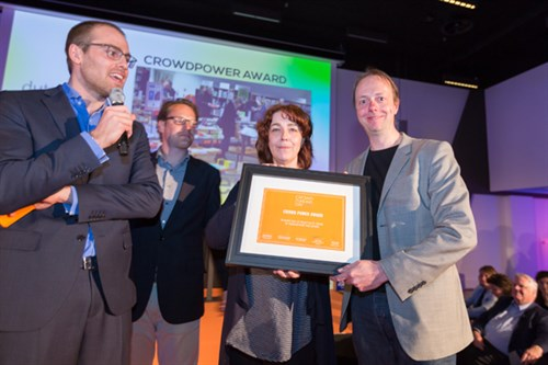 Donner, crowdfunded on Symbid, receives the Crowd Power Award at Crowdfunding Day